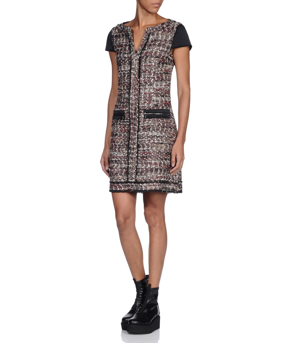 paneled boucle dress - Blue Karl Lagerfeld XOGXnhUP
