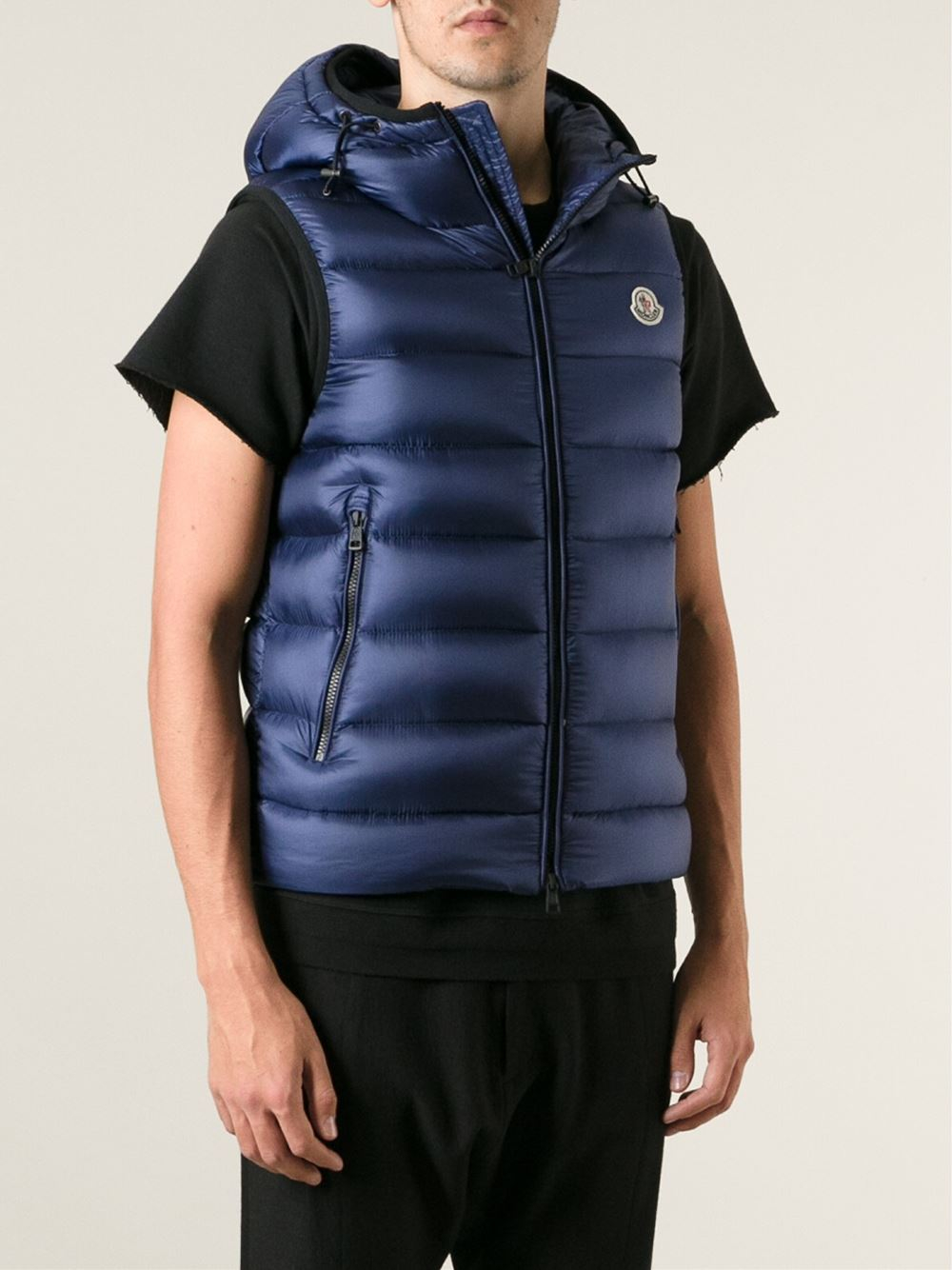 moncler gilet with hood