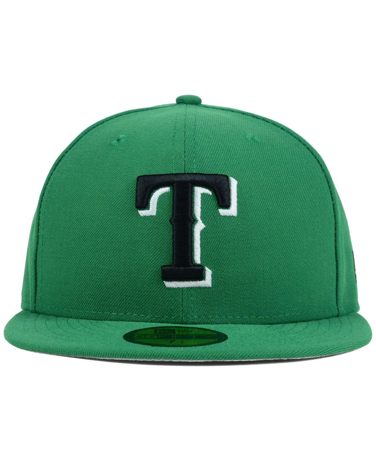 917bf7940c5023 ... cheap lyst ktz texas rangers c dub 59fifty cap in green for men 0e6b5  8f8a5