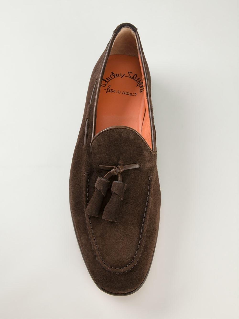 tasselled loafers - Brown Santoni TFrJKSslpz