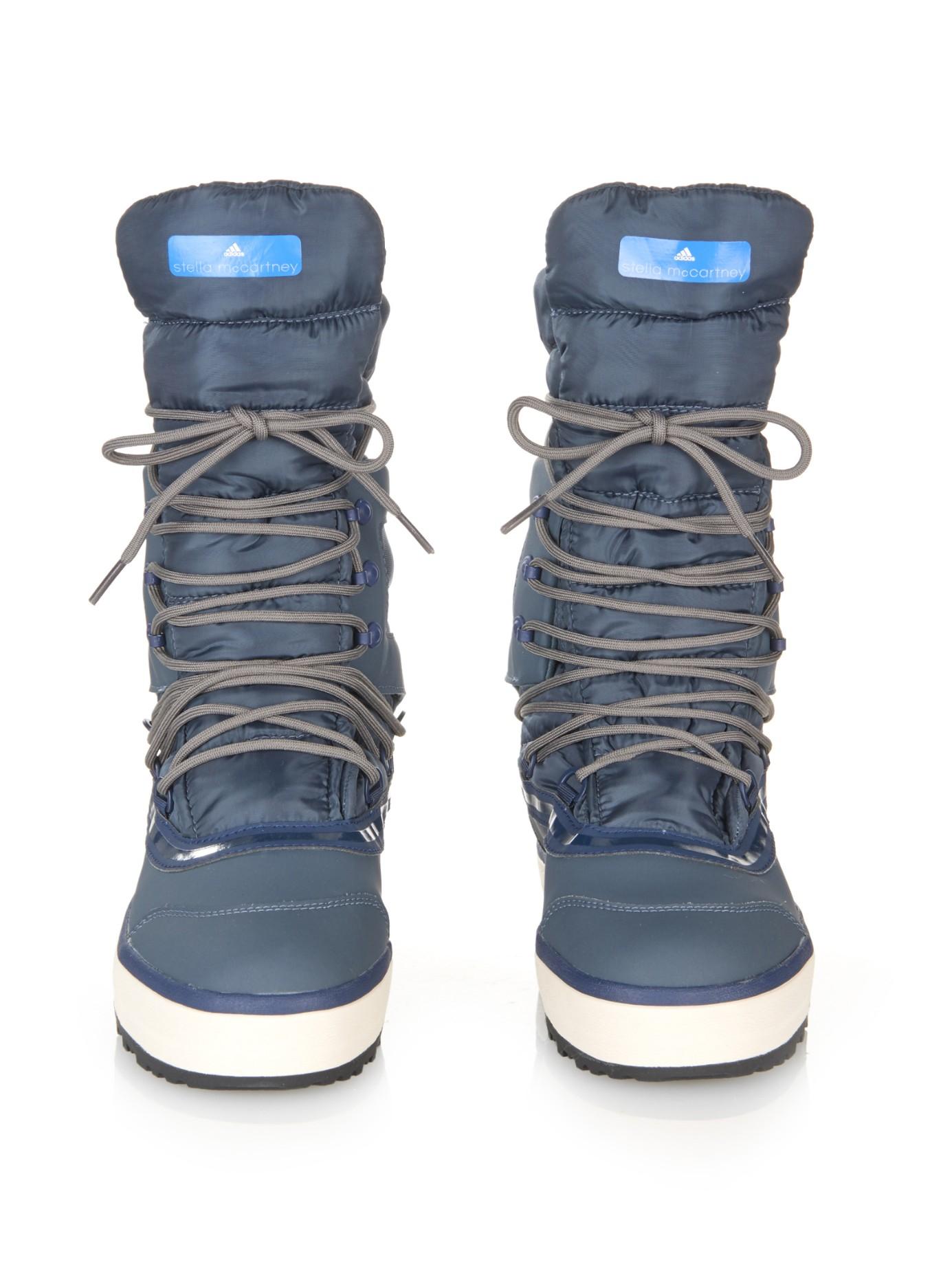 Lyst Adidas By Stella Mccartney Nangator Snow Boots In Blue