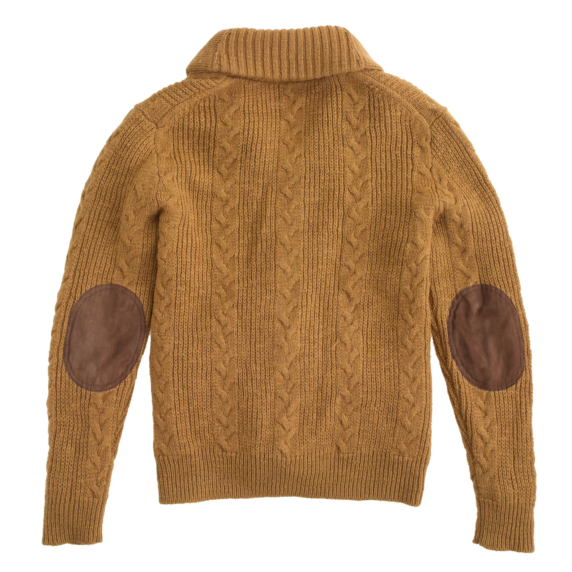 J.crew Wallace & Barnes Cable Cardigan Sweater In Brown