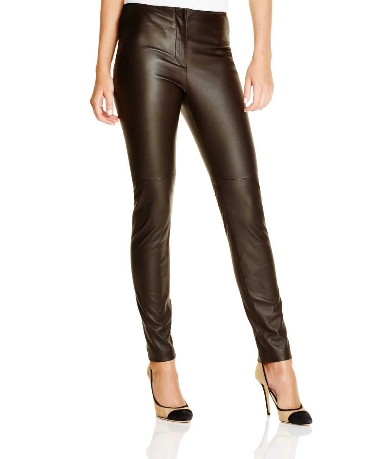 Simple Alfa Img  Showing Gt Womens Brown Leather Pants