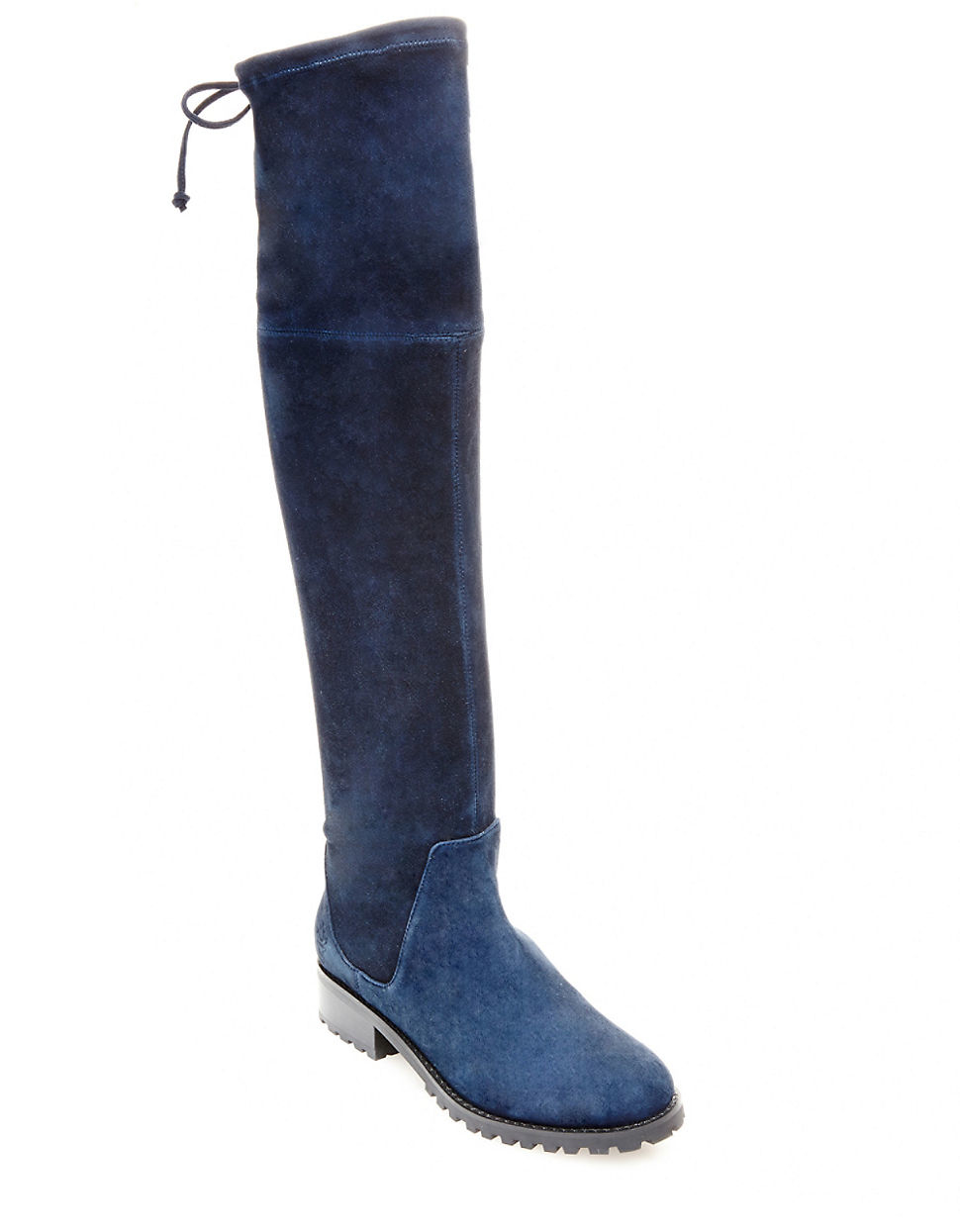 blondo snow knee high suede boots in blue lyst