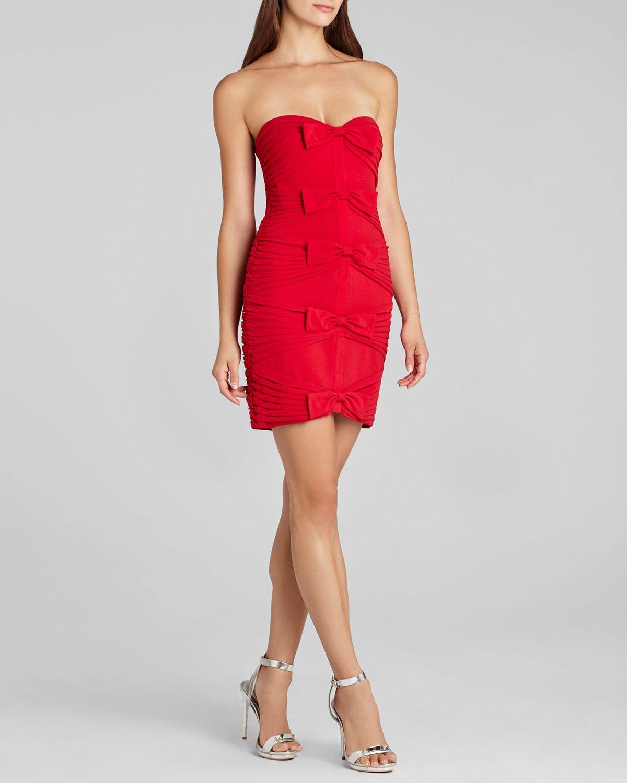 Lyst - Bcbgmaxazria Bcbg Max Azria Dress Sabrinna Bow in Red