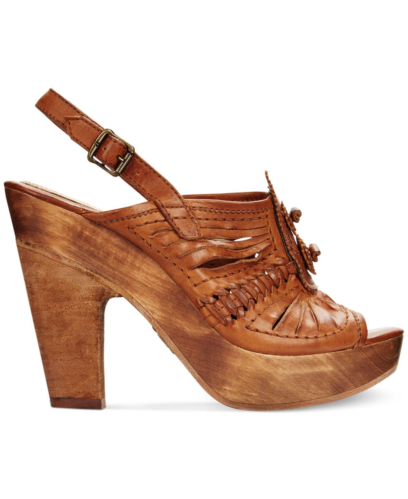 Frye Leather Platform Sandals fashionable cheap price excellent cheap price OdMHGGQh