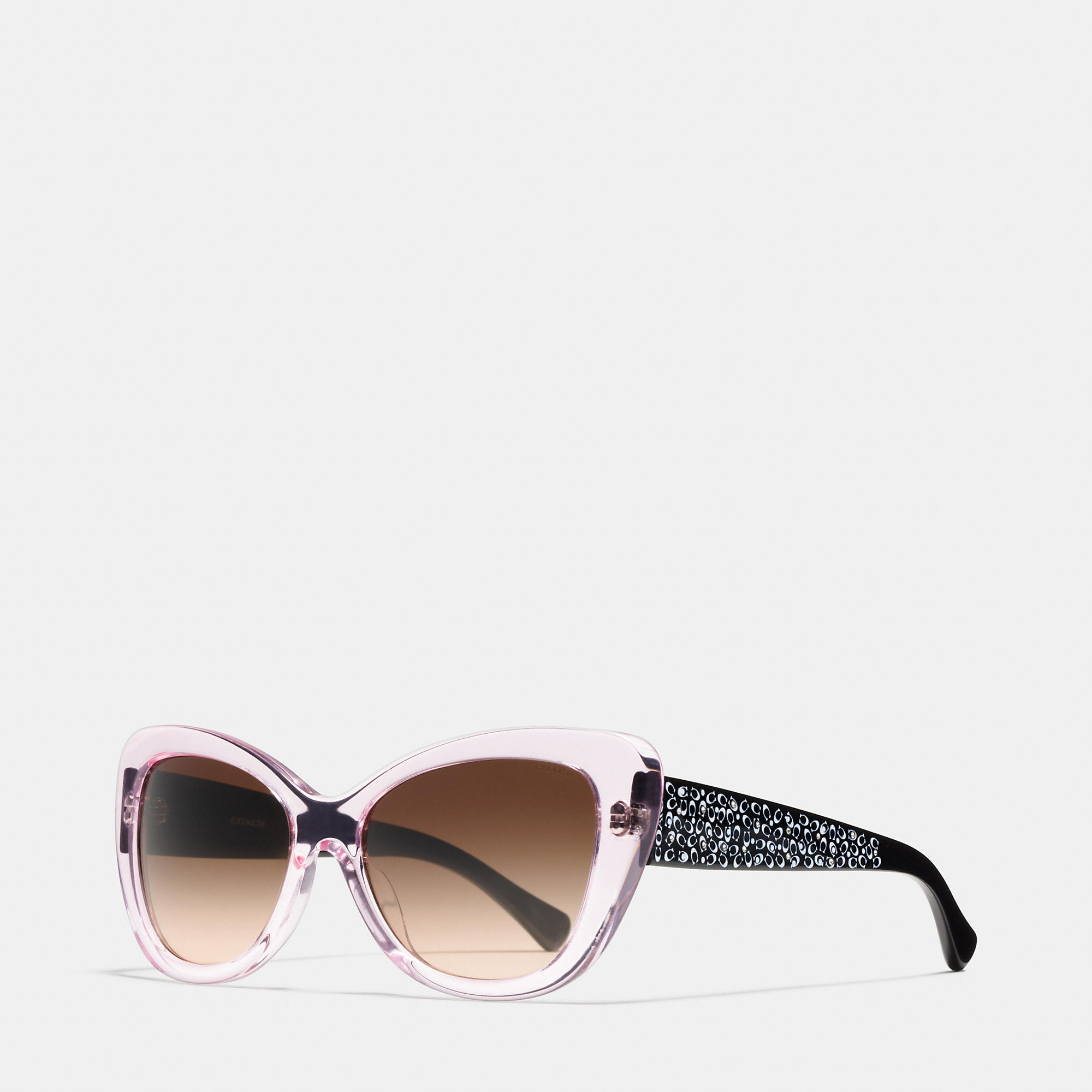 Pink Coach Sunglasses  coach signature spray cat eye sunglasses in pink lyst