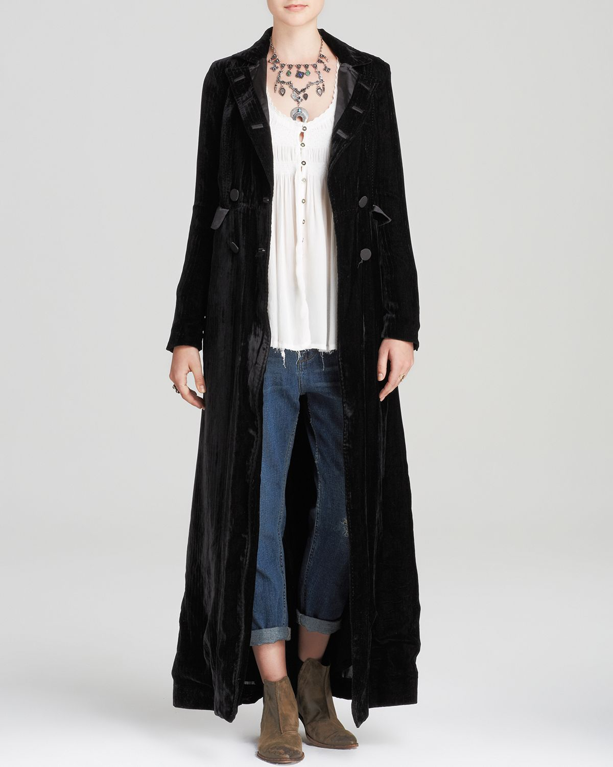 Lyst - Free People Maxi Coat