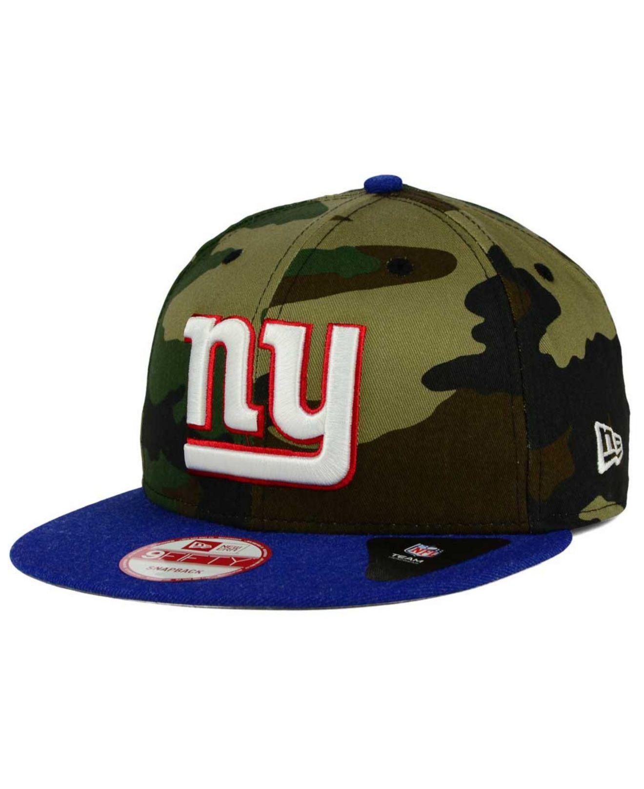 ktz new york giants camo heather 9fifty snapback cap in. Black Bedroom Furniture Sets. Home Design Ideas