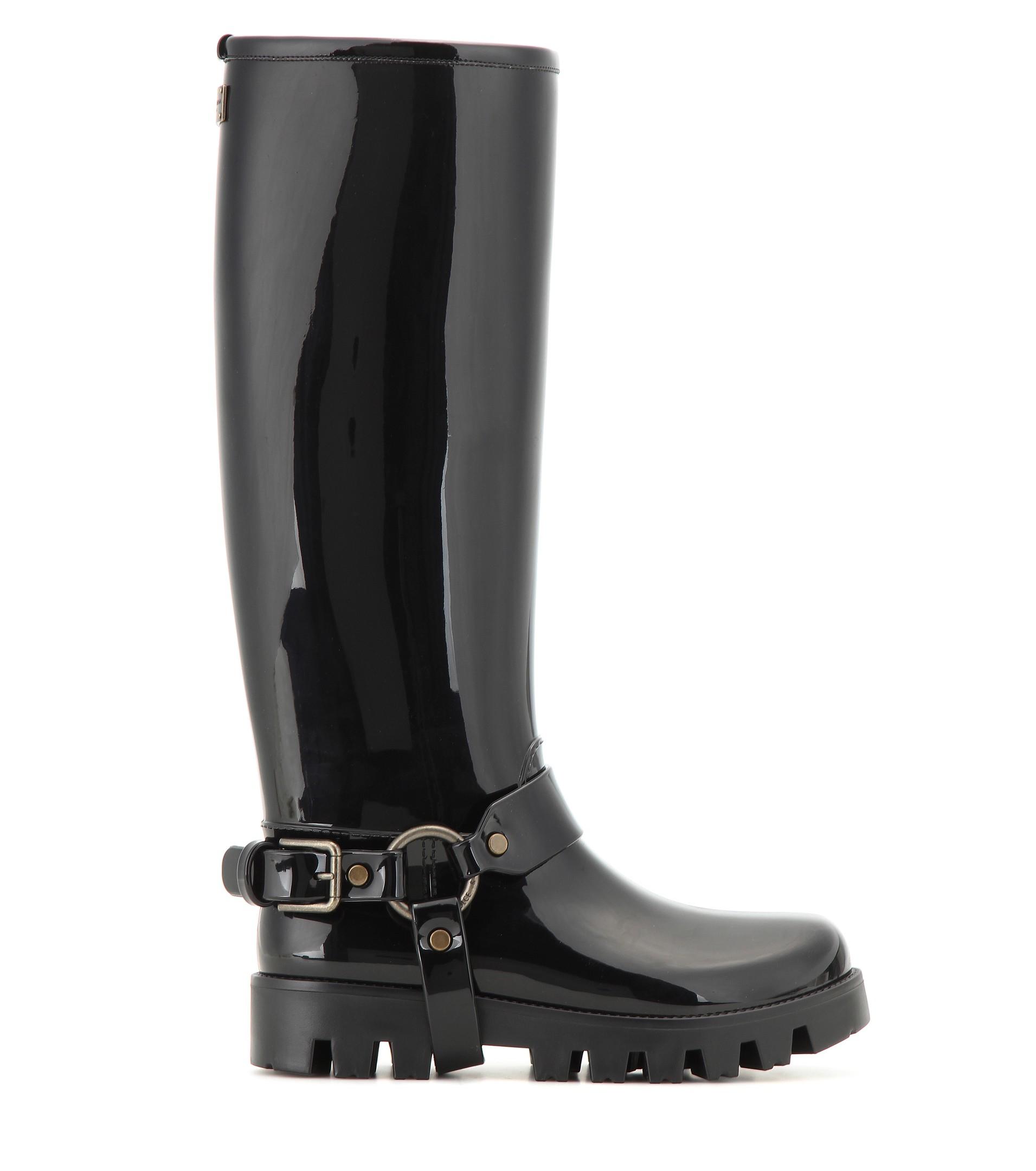 Dolce \u0026 Gabbana Knee-High Rain Boots in