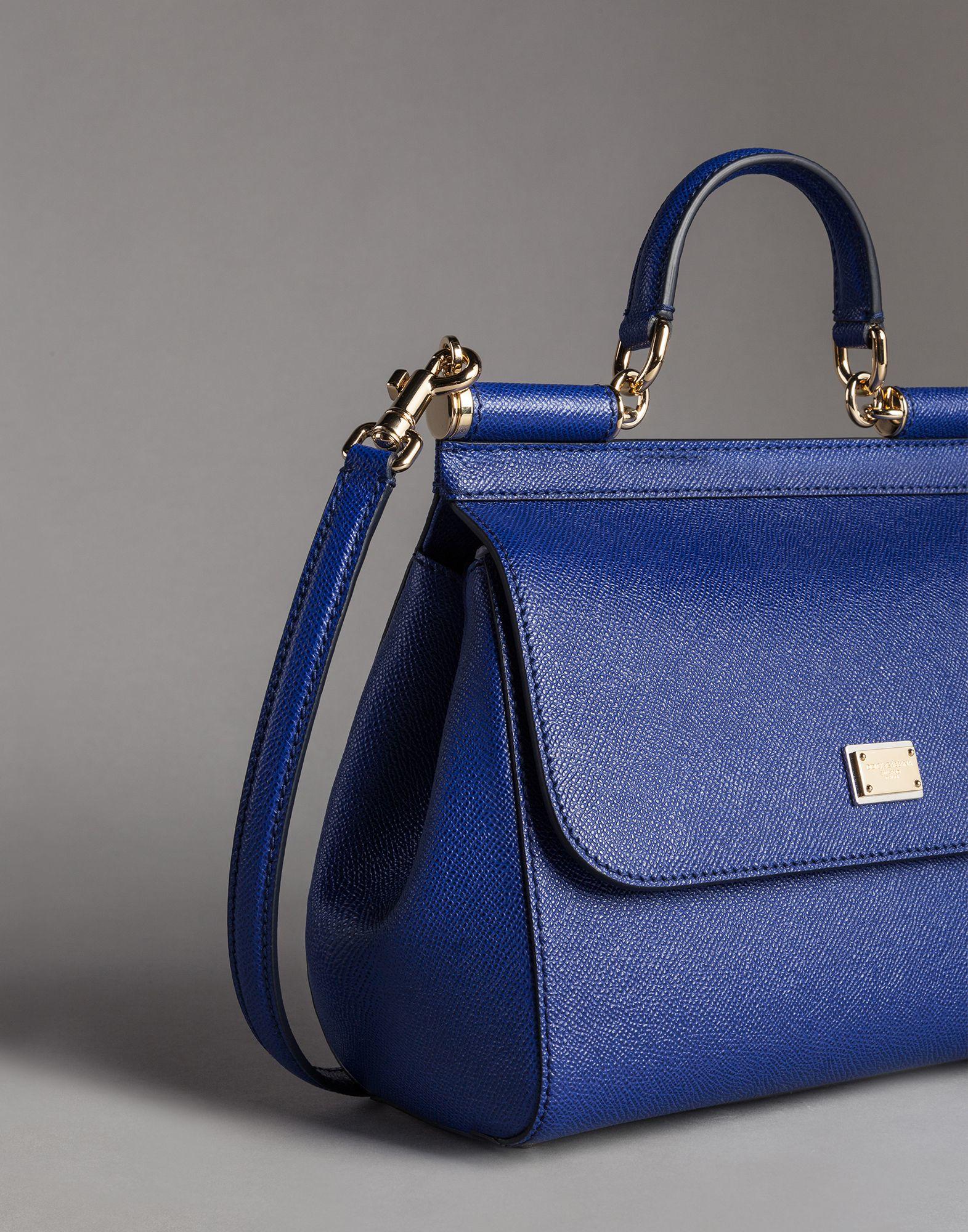 fcfb6384afc Lyst - Dolce   Gabbana Medium Dauphine Calfskin Sicily Bag in Blue