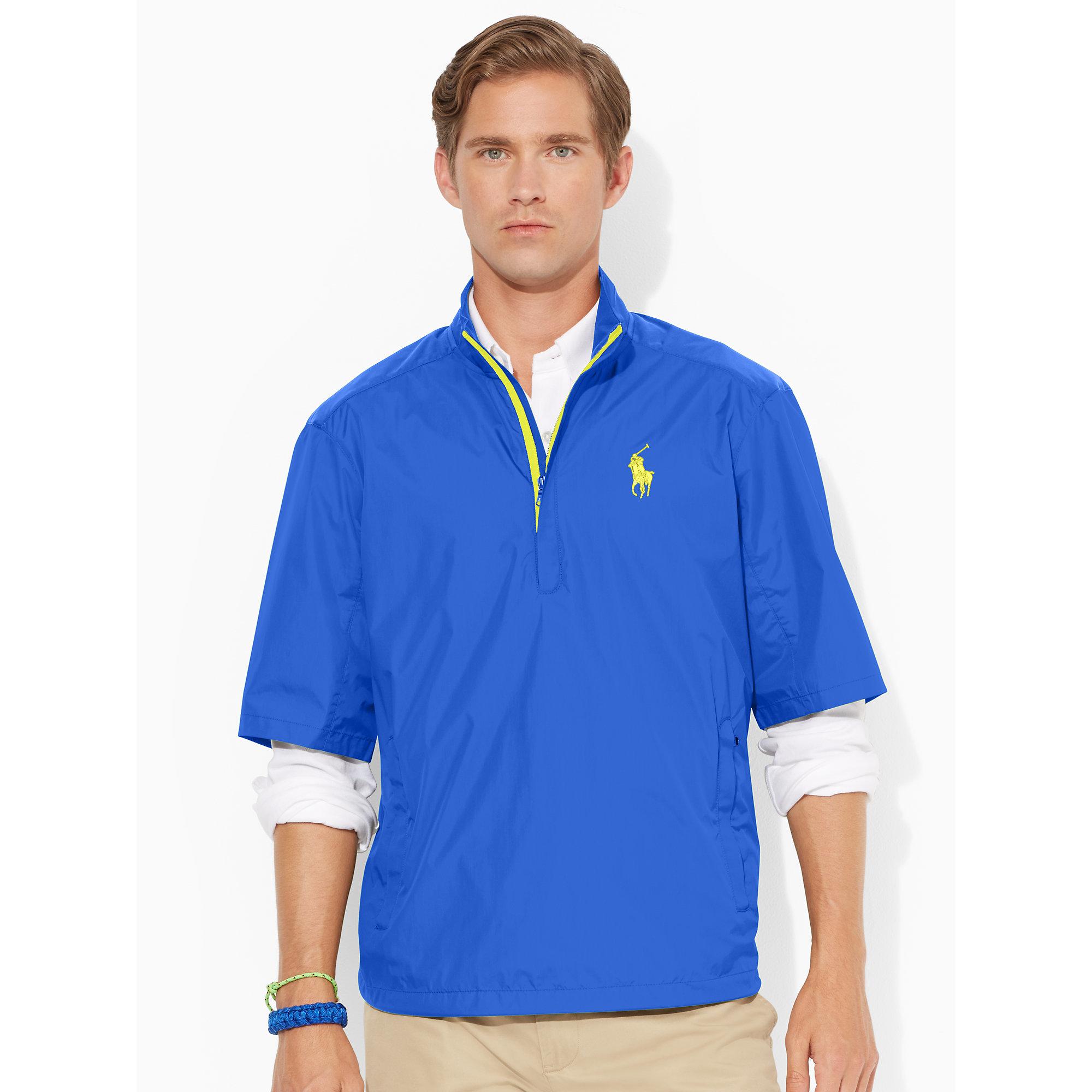 Ralph lauren Short-sleeve Windbreaker in Blue for Men | Lyst