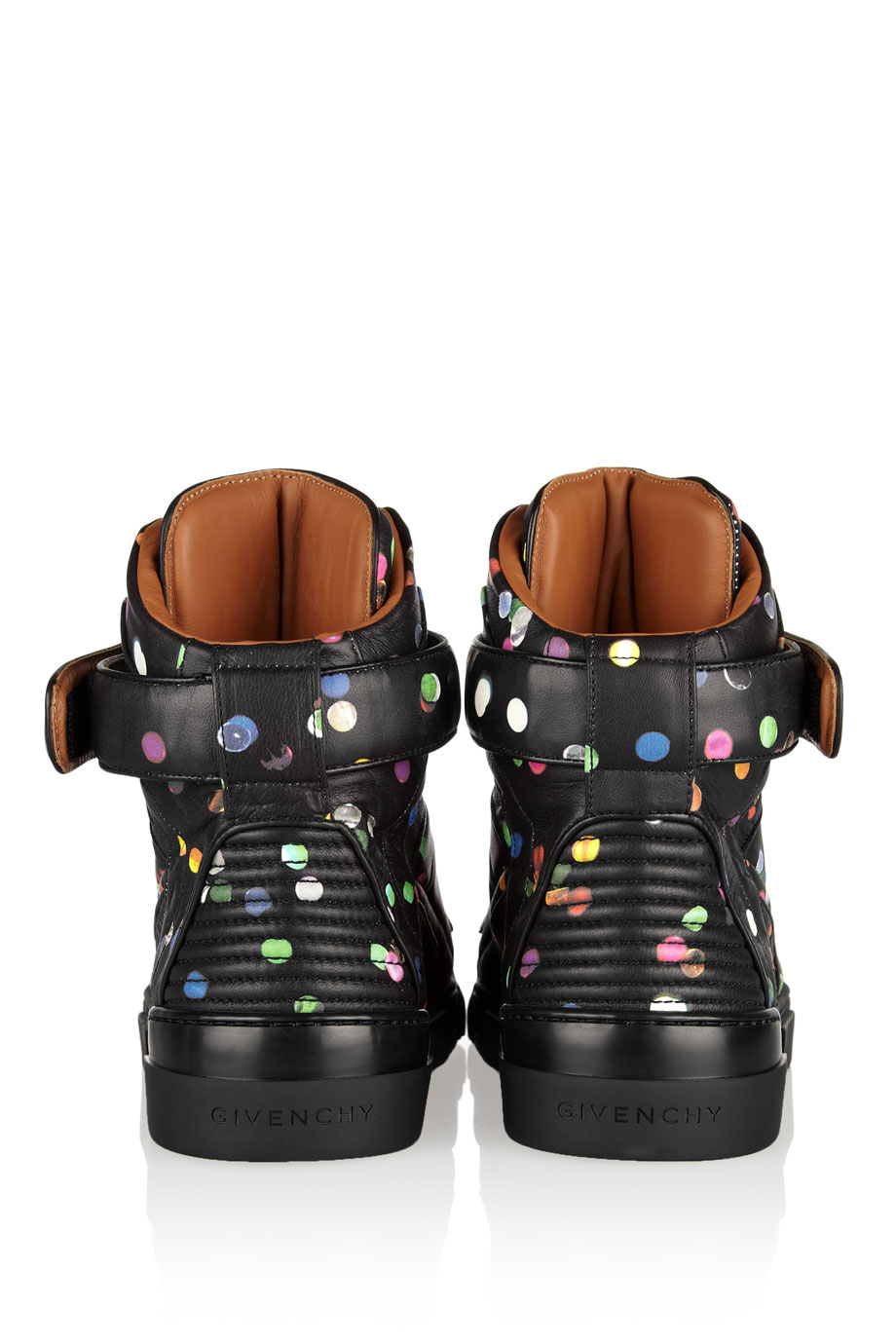 Givenchy Tyson Hightop Sneakers in Confettiprint Leather in Black
