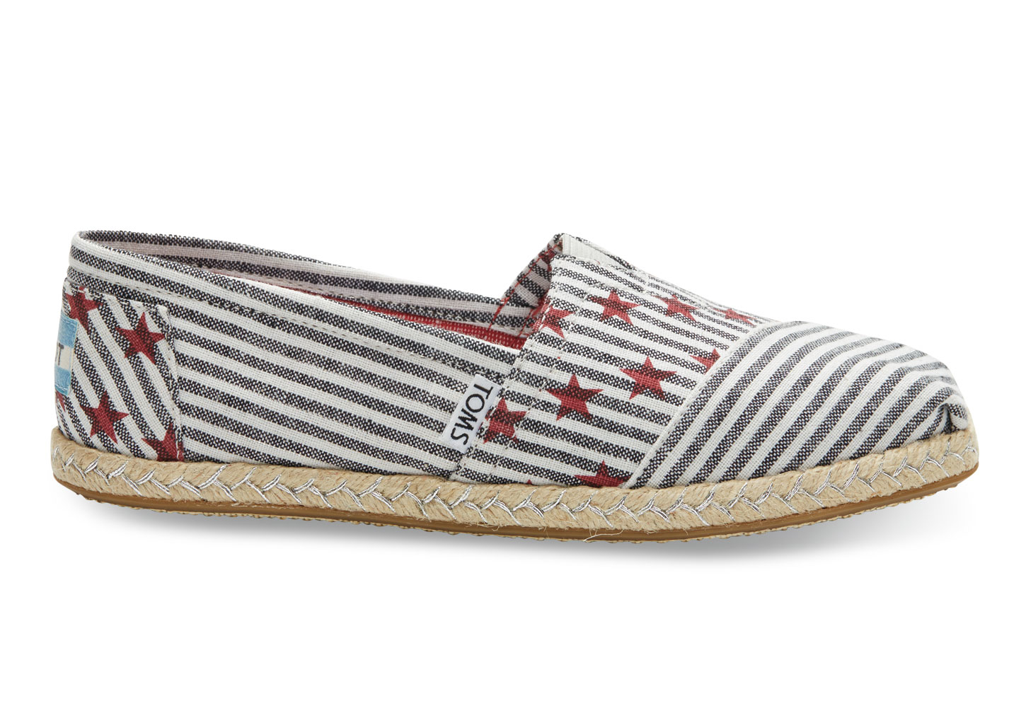 Lyst - TOMS Americana Navy Stars And Stripes Women s Classics in White fc028c893ac