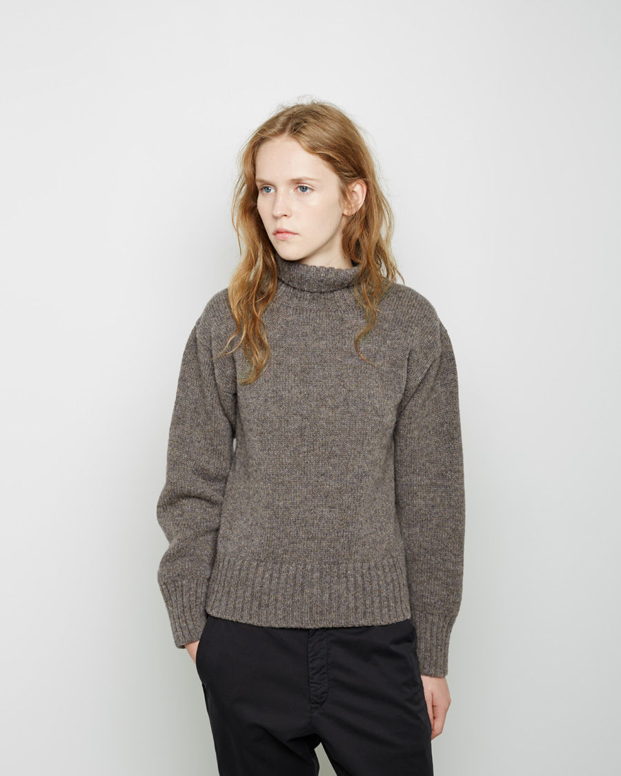Lyst - Mhl By Margaret Howell Wool Roll Neck Sweater in Gray