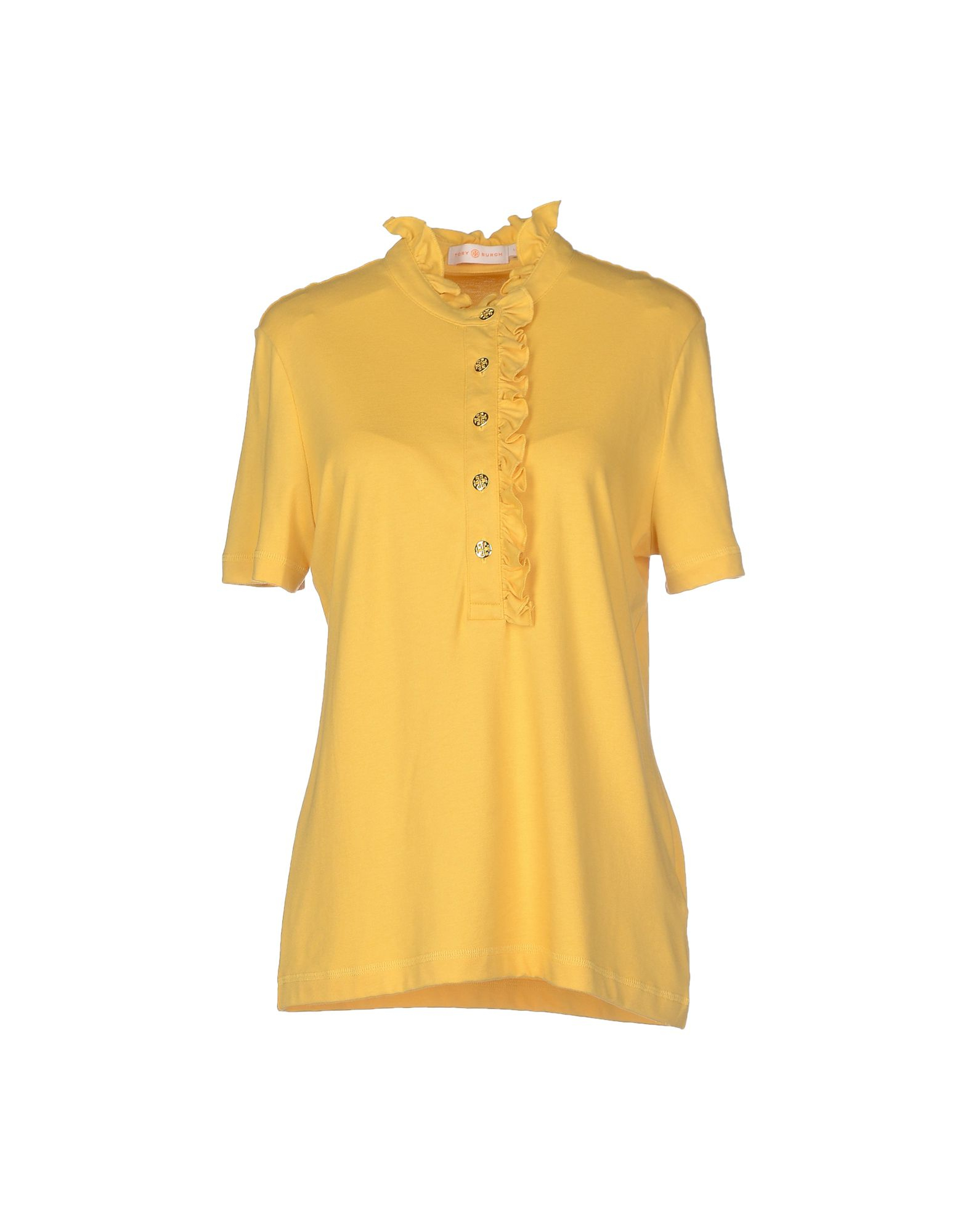 Tory Burch Polo Shirt In Yellow Lyst