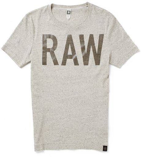 star raw g star lambrick t shirt snow heather in gray for men grey. Black Bedroom Furniture Sets. Home Design Ideas