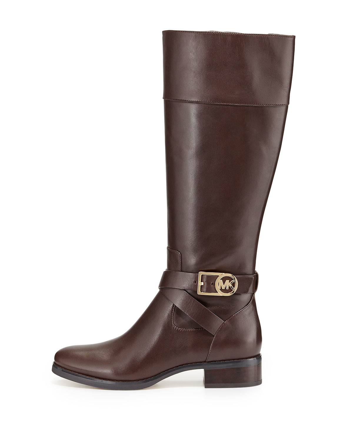 michael michael kors bryce leather boots in brown