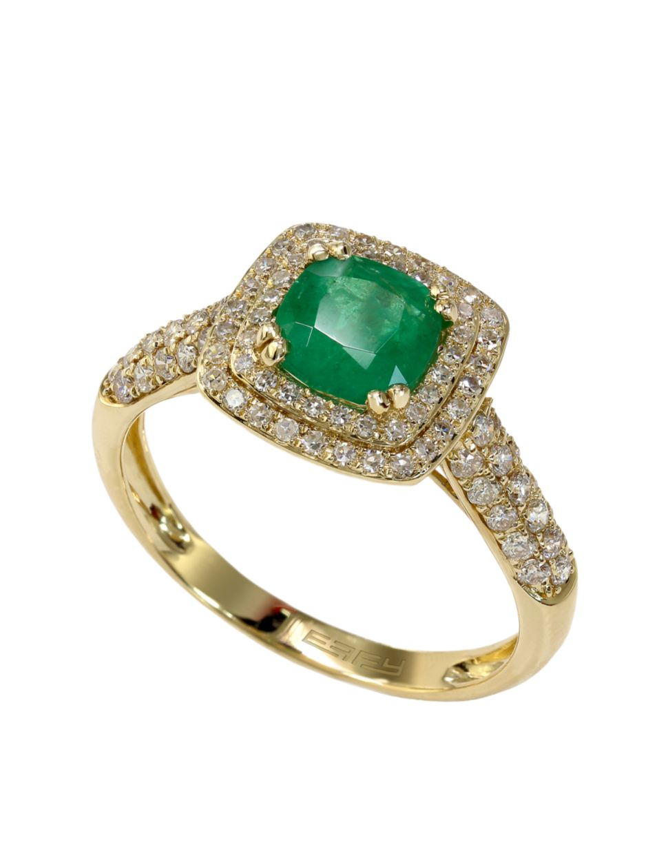 effy emerald envy 14k yellow gold emerald and ring