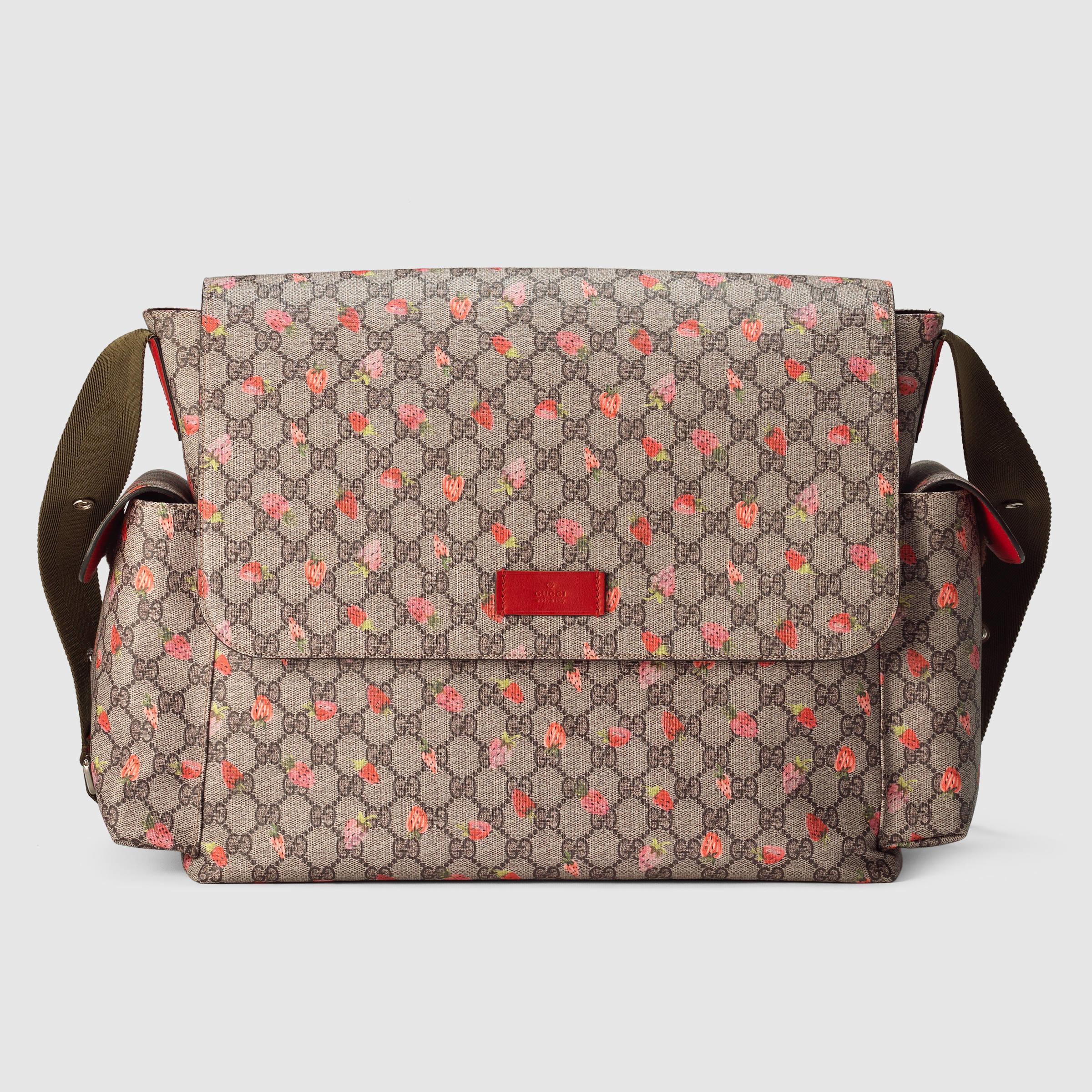 0e1b40f91ccb Gucci Gg Strawberry Diaper Bag in Pink - Lyst