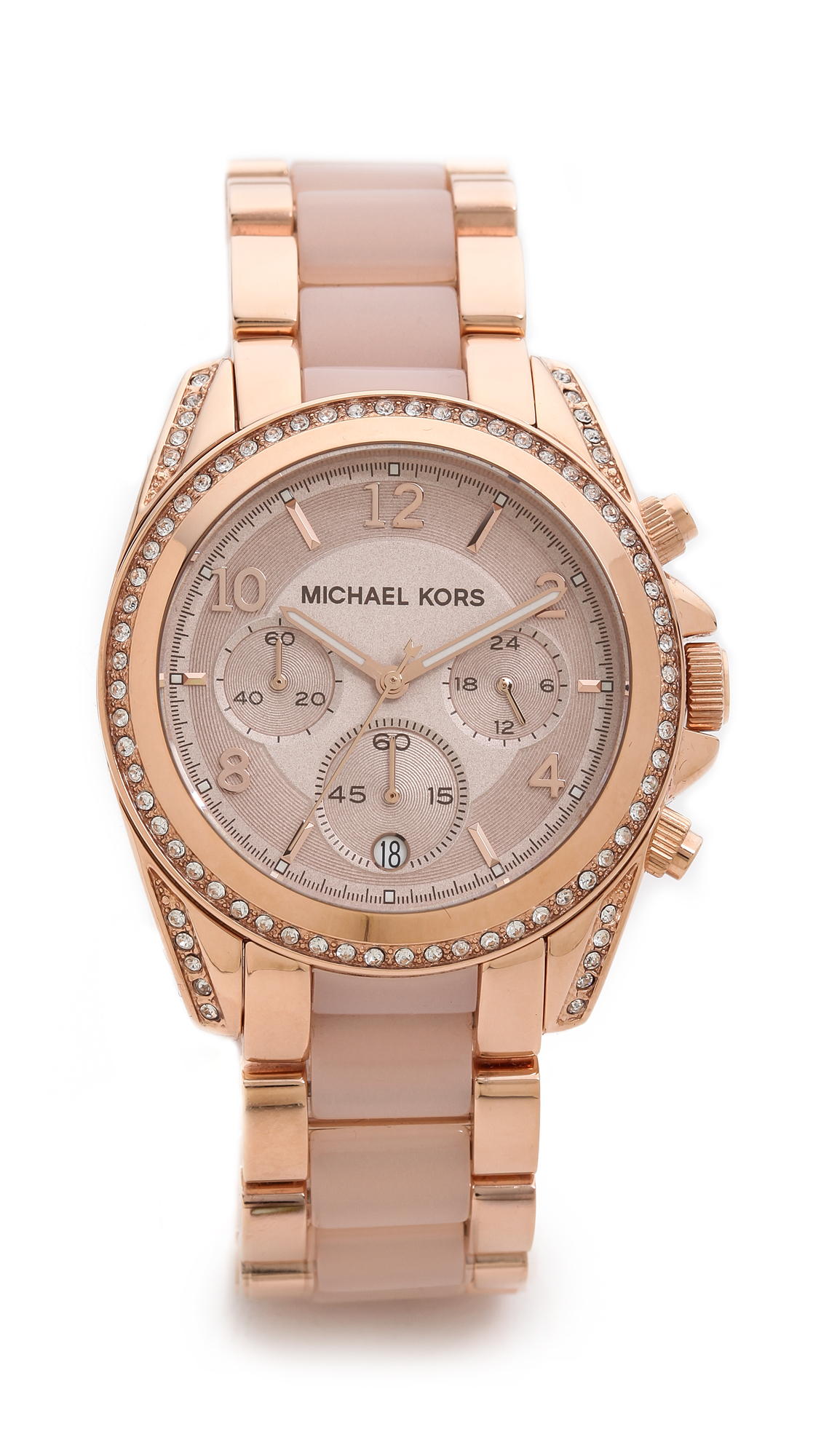 Michael kors blair watch rose gold in metallic lyst for Watches michael kors