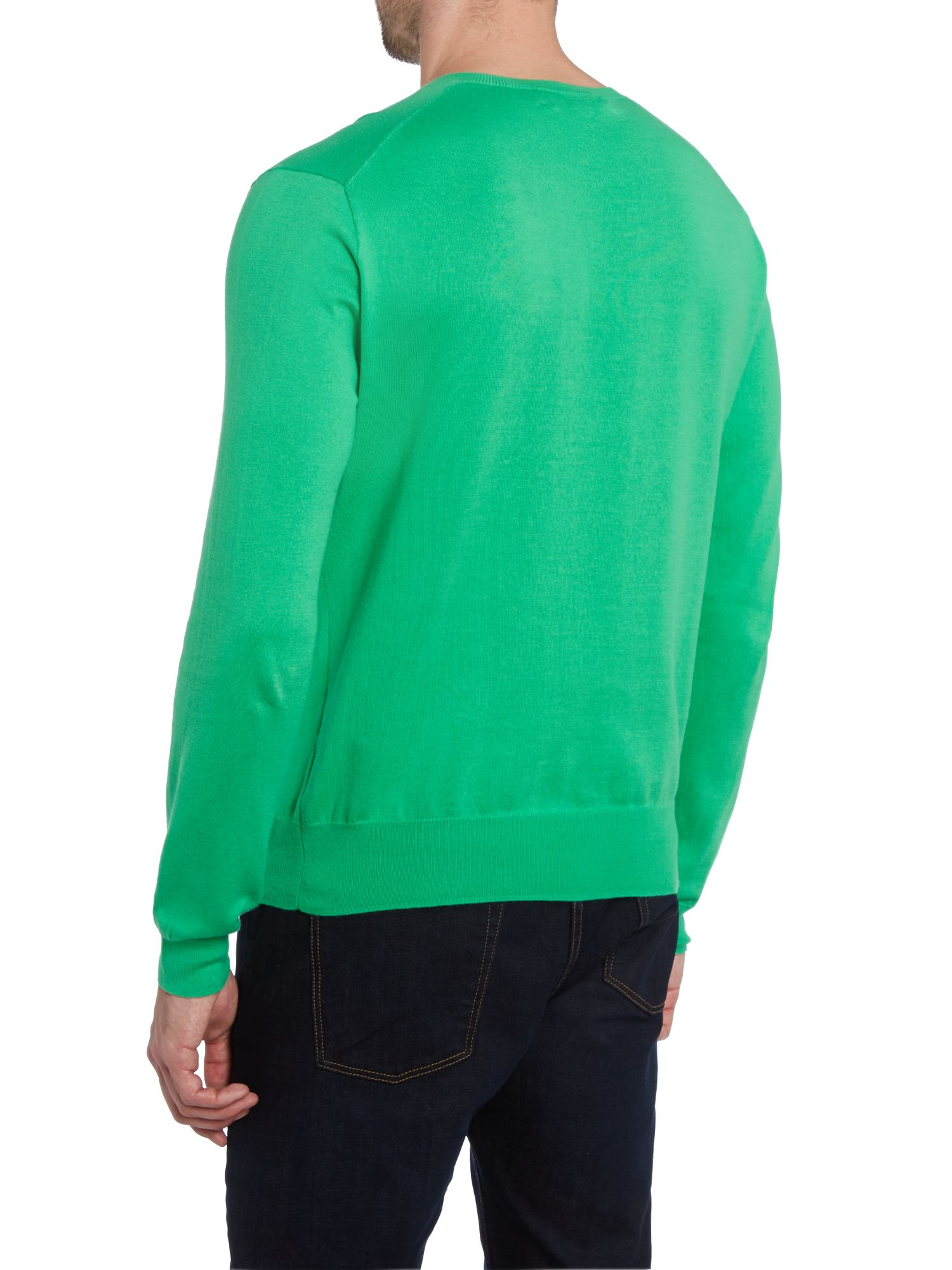 polo ralph lauren v neck slim fit pima cotton polo in green for men lyst. Black Bedroom Furniture Sets. Home Design Ideas