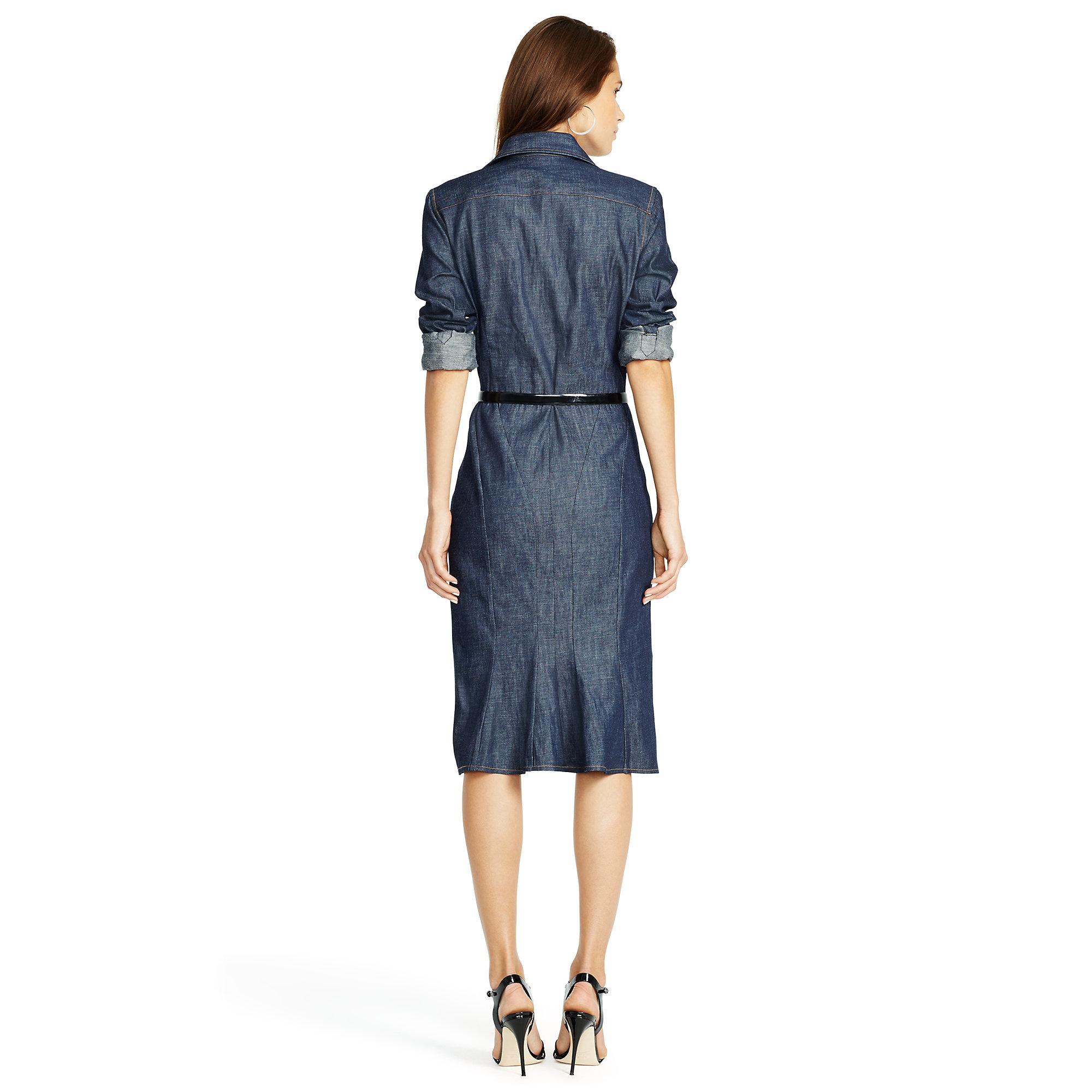 e2dc1ba5f67 Lyst - Polo Ralph Lauren Denim Button-down Shirtdress in Blue