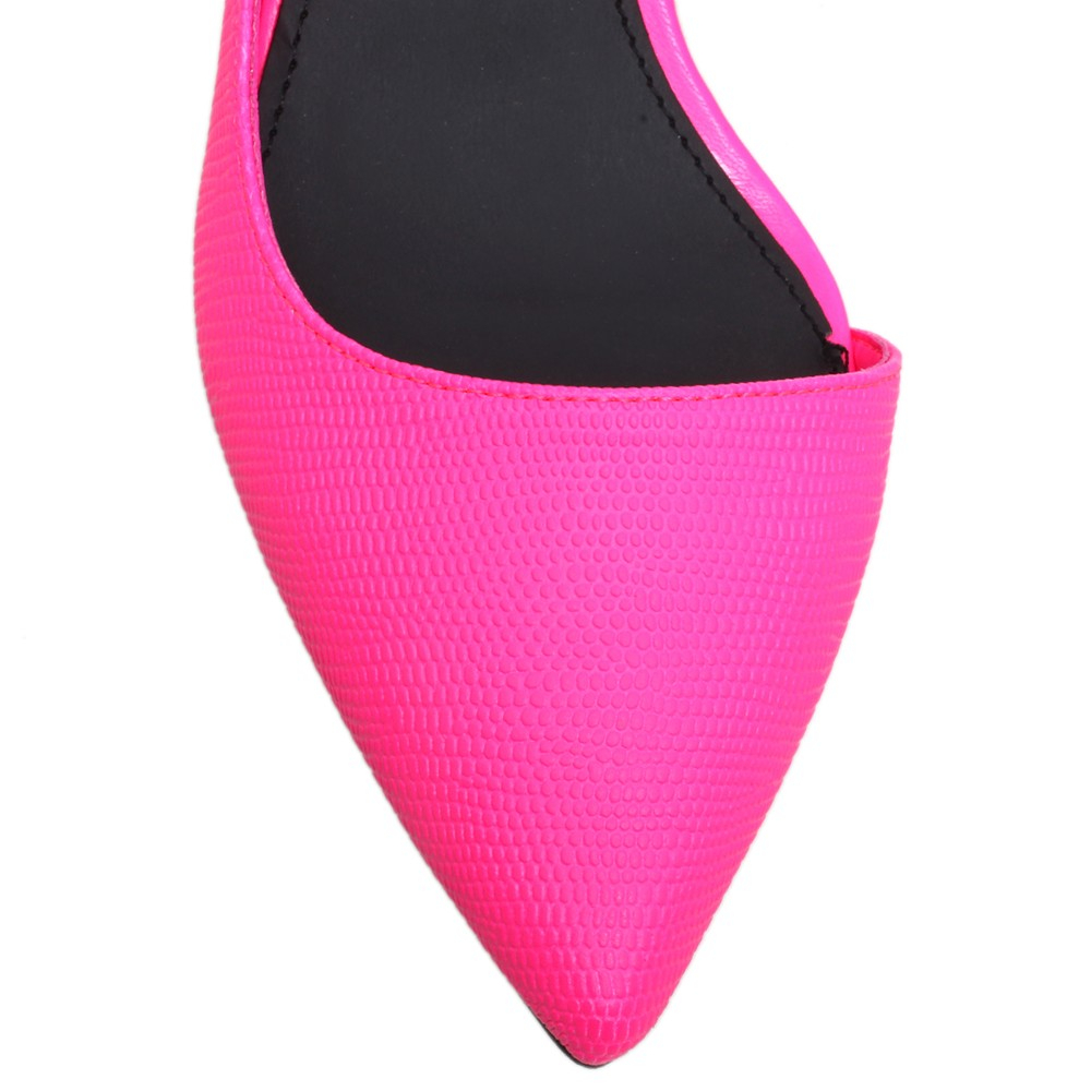 Hot Pink Kitten Heel Shoes