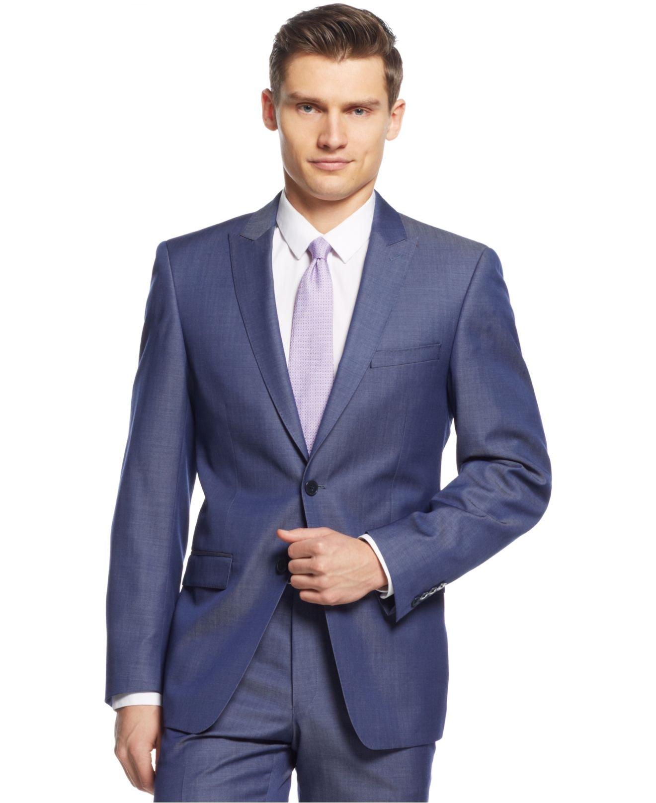 Calvin klein X Denim Blue Extra-slim-fit Suit in Blue for Men | Lyst