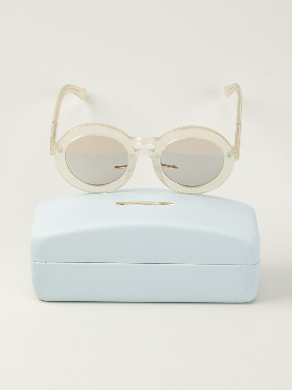 f6b7e043d6 Lyst - Karen Walker 'joyous Gold Glitter' Sunglasses in White