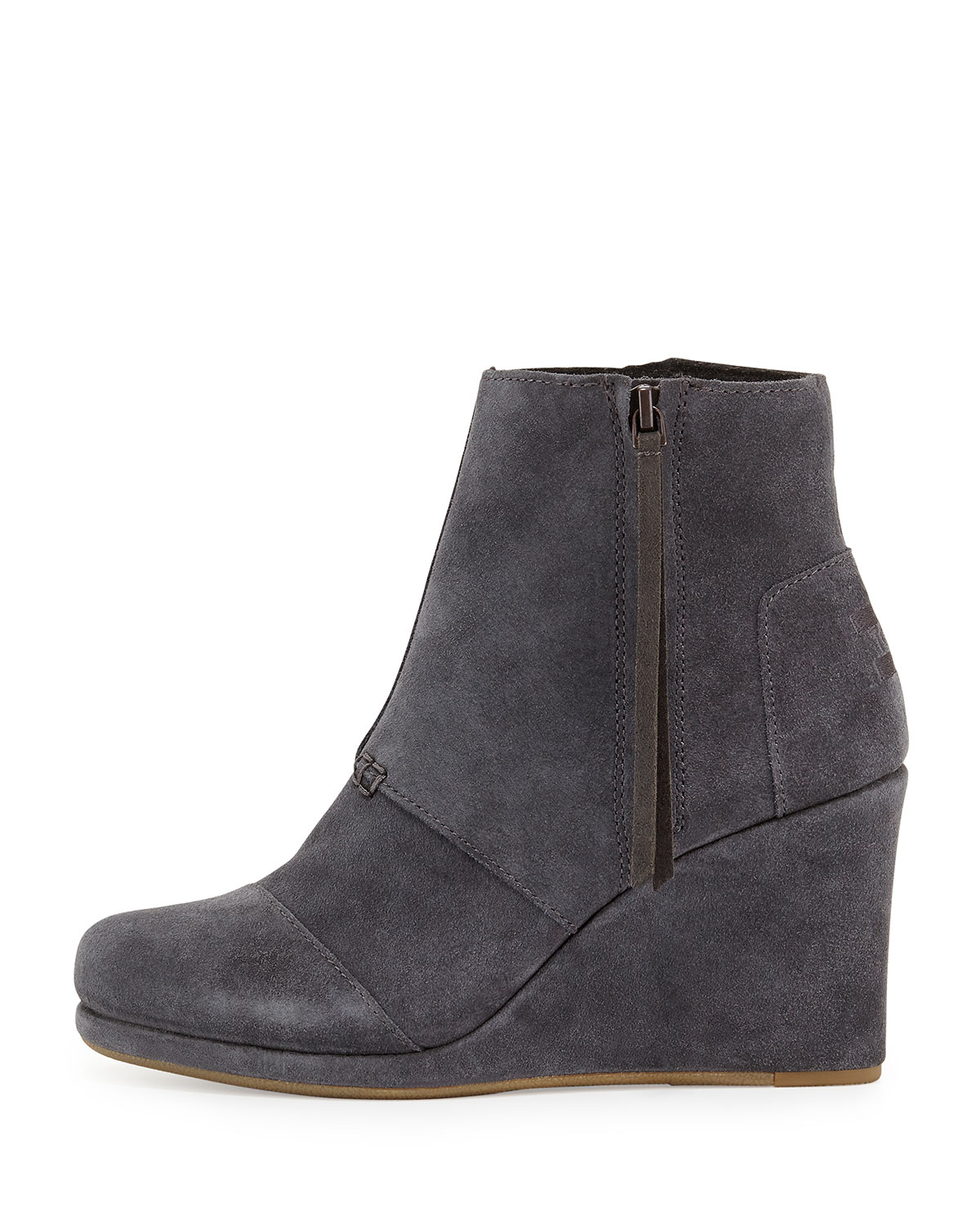 Grey Wedge Dress Shoes