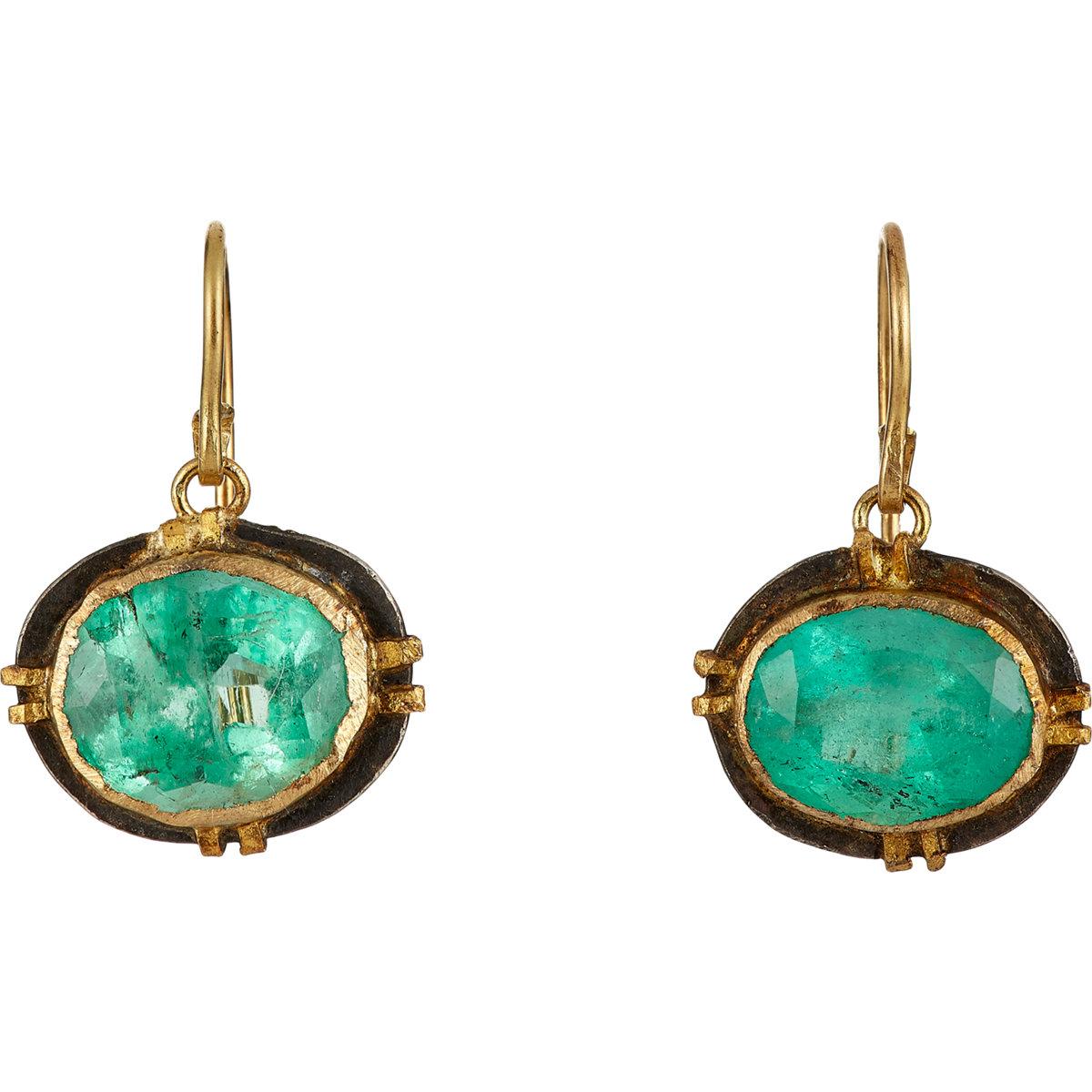 Judy geib Emerald Drop Earrings in Green