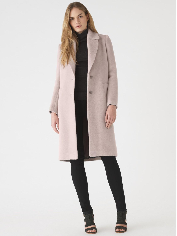 Jigsaw Pink Coat - Coat Nj