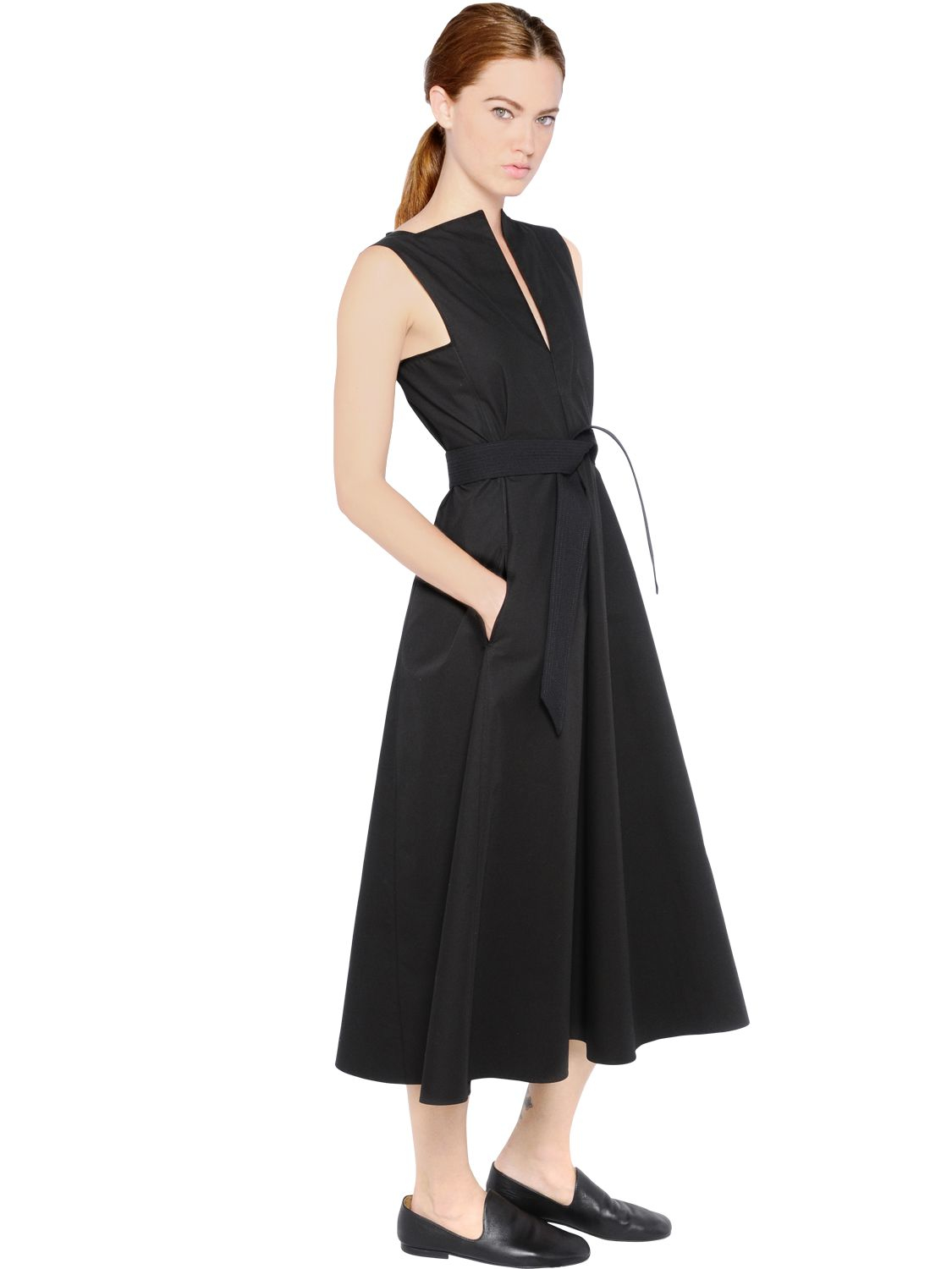 Lyst Christophe Lemaire Sleeveless Heavy Cotton Dress In
