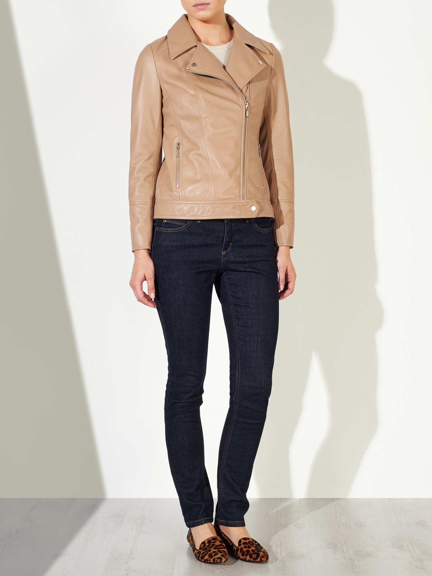 john-lewis-ligh... Leather Jackets For Women Light Brown