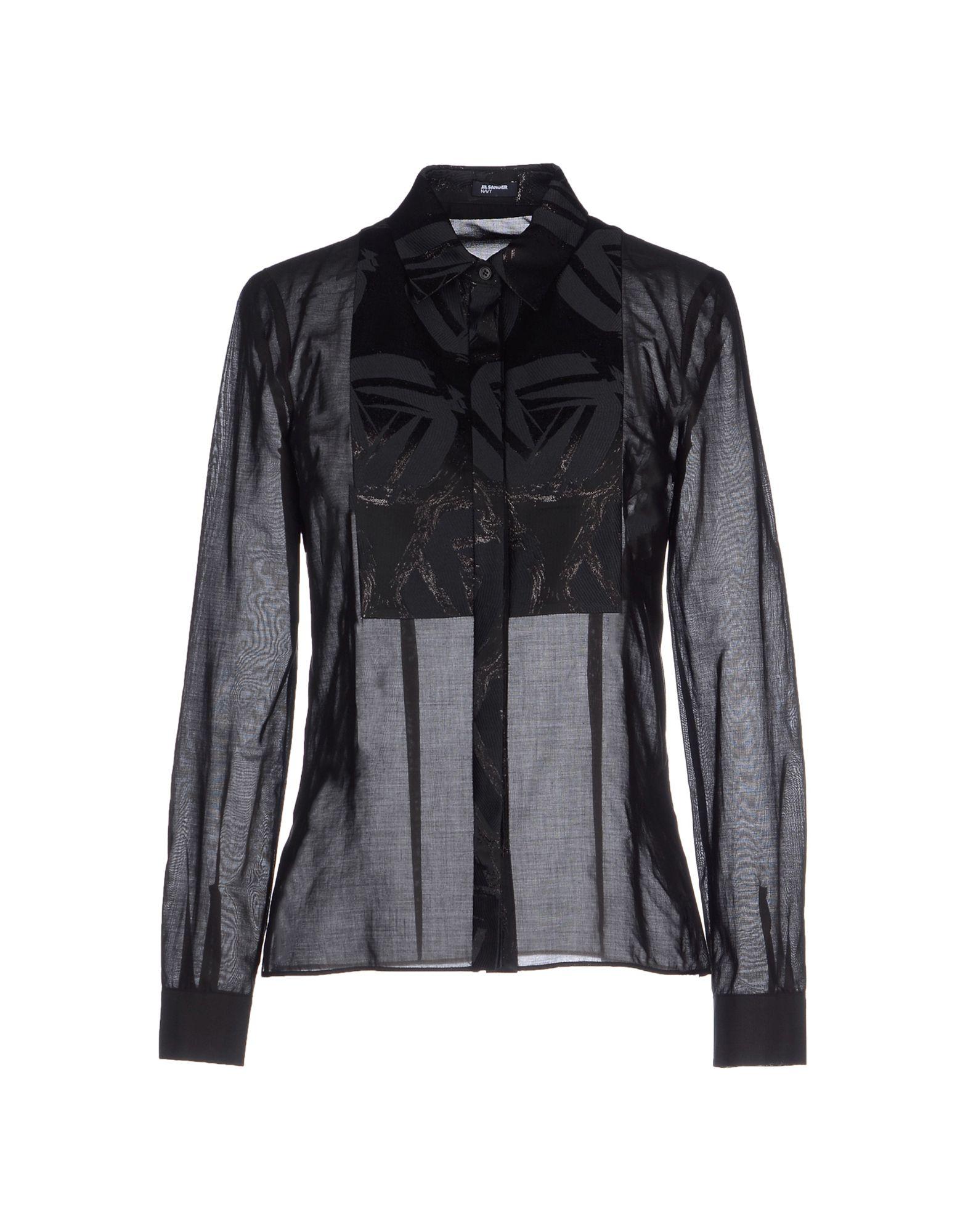 Jil sander navy shirt in black lyst for Jil sander mens shirt