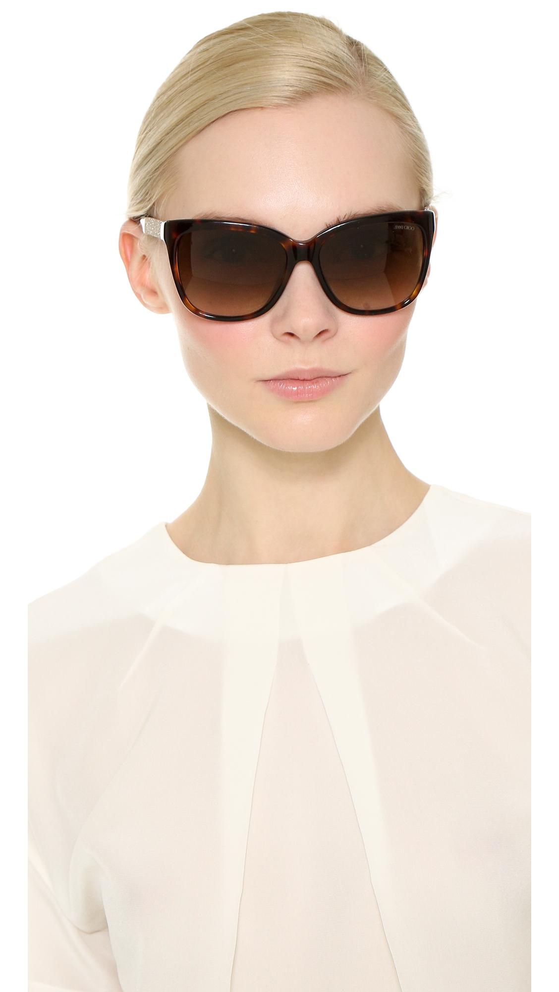 70e52c3145f Lyst - Jimmy Choo Cora Sunglasses in Brown