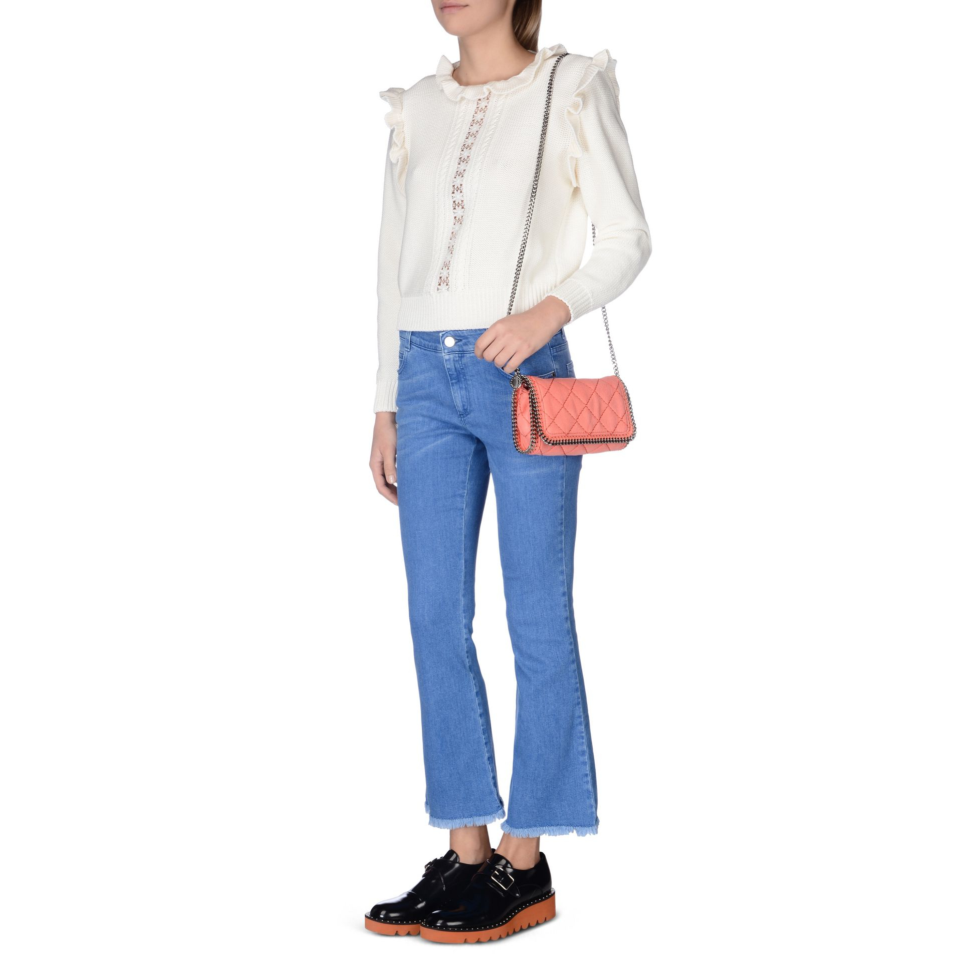 Lyst - Stella McCartney Peony Falabella Quilted Shaggy Deer Cross ... 1be8b38e41dab