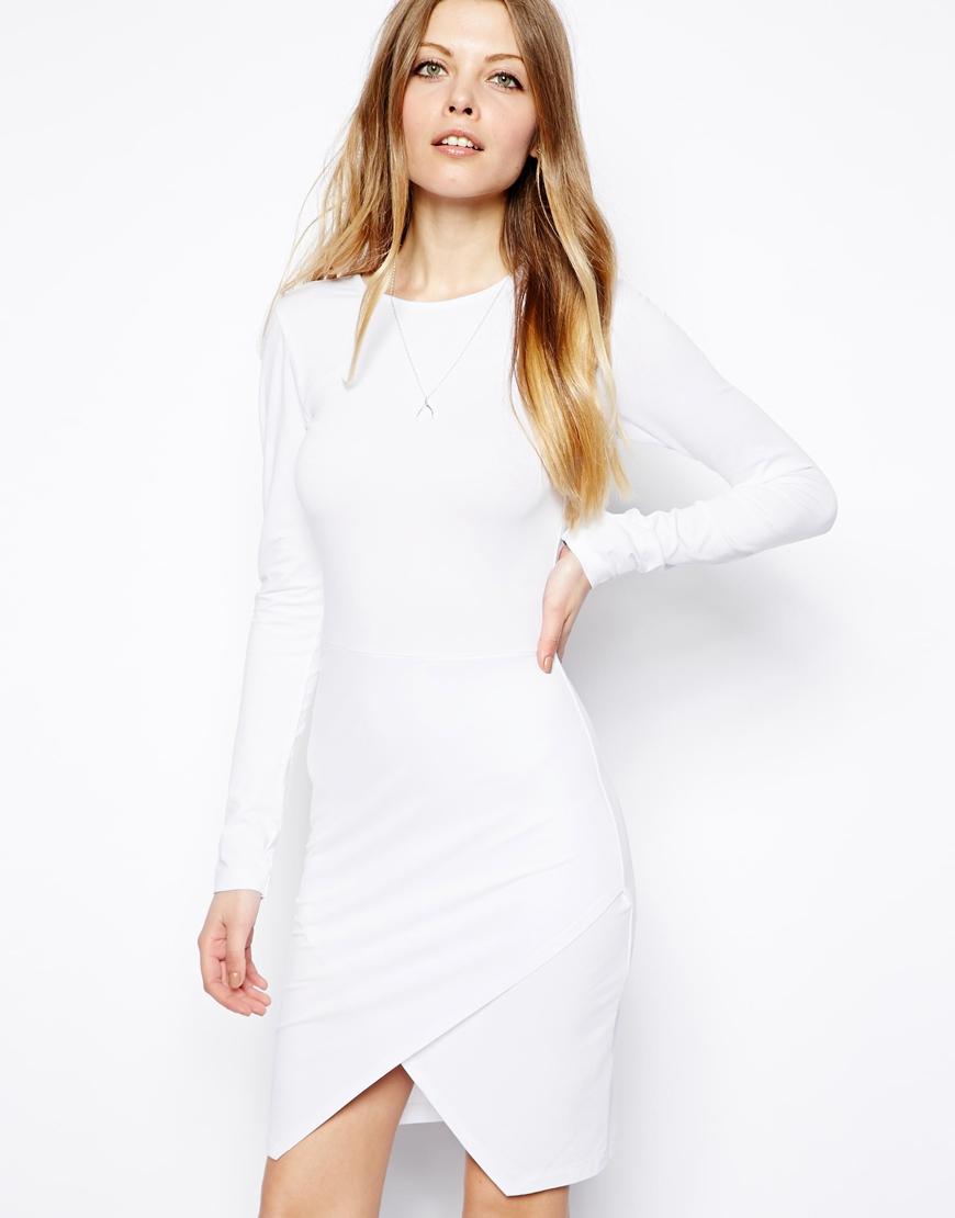White bodycon dress asos europe plus