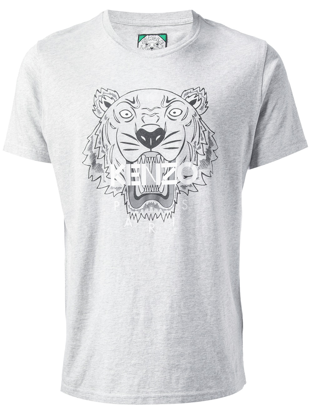 52156f852c6bf KENZO Tiger Print T-shirt in Gray for Men - Lyst
