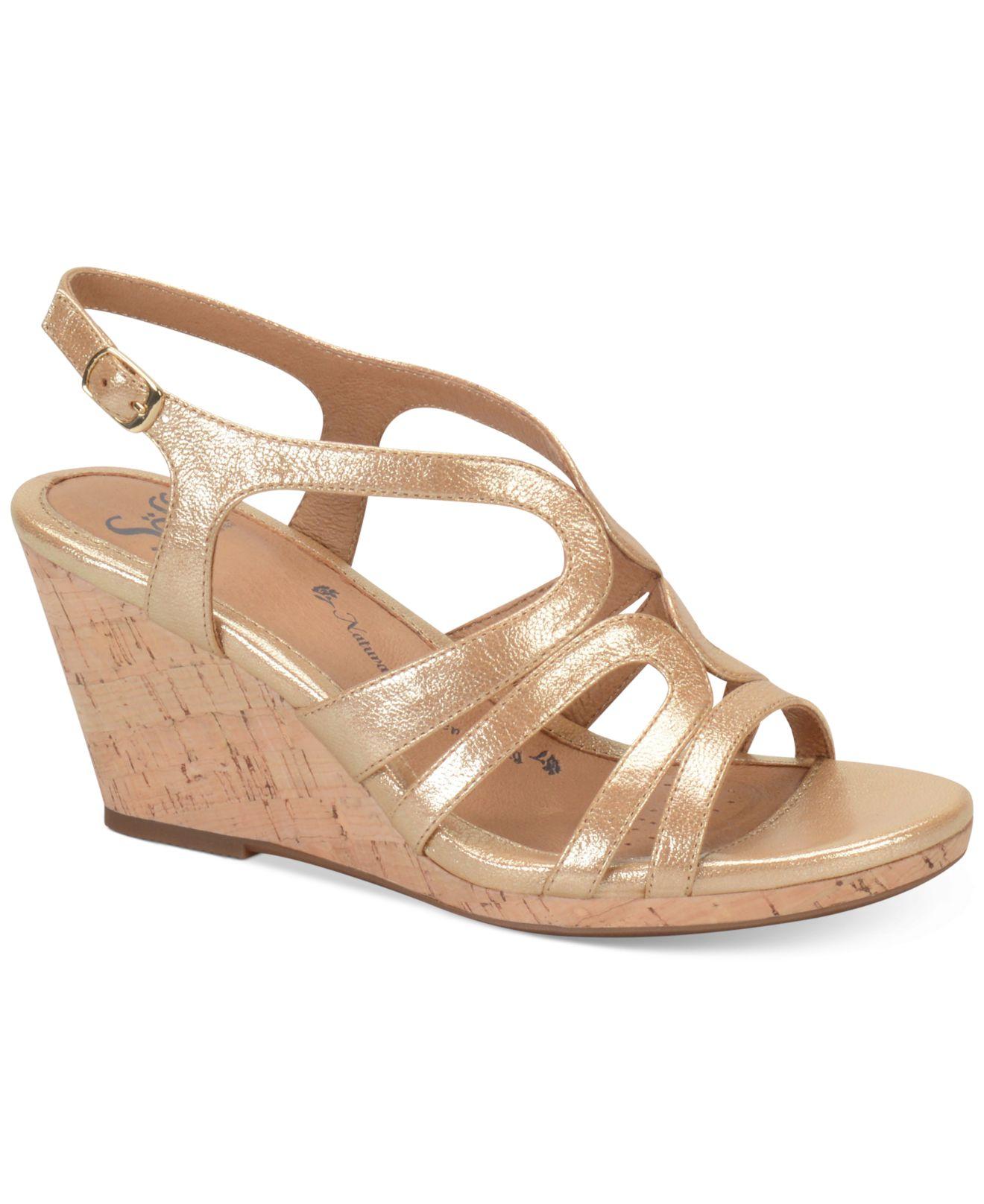 s 246 fft corinth platform wedge sandals in metallic lyst