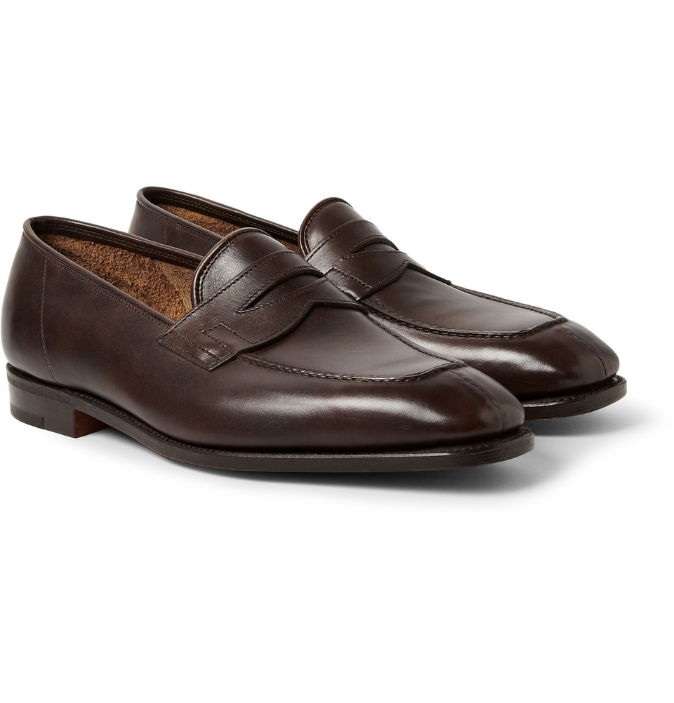 John Lobb Shoes >> Lyst - John Lobb Ashley Leather Penny Loafers in Brown for Men