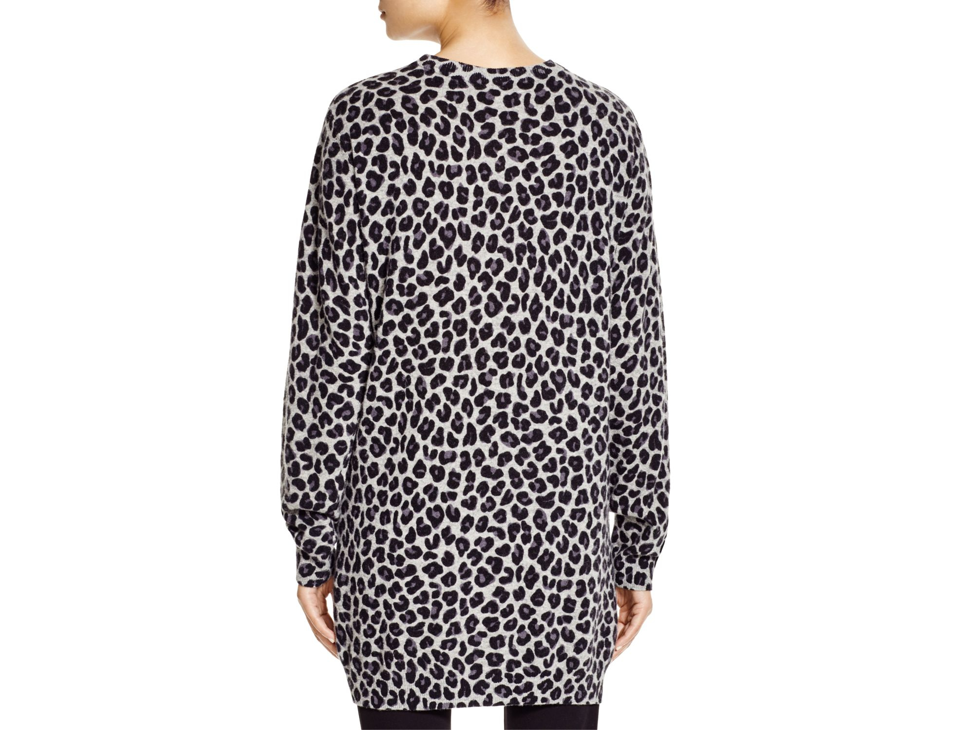 882876d20599 DKNY Leopard Print Sweater Dress - Bloomingdale's Exclusive in Gray ...