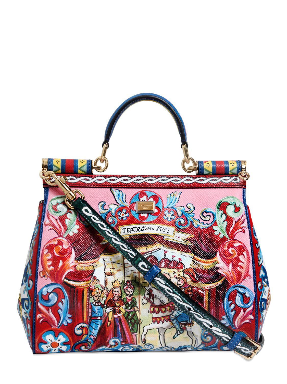 Bag At You Fashion Blog Hip E Bags White Backpack: Dolce & Gabbana Medium Sicily Puppet Print Dauphine Bag