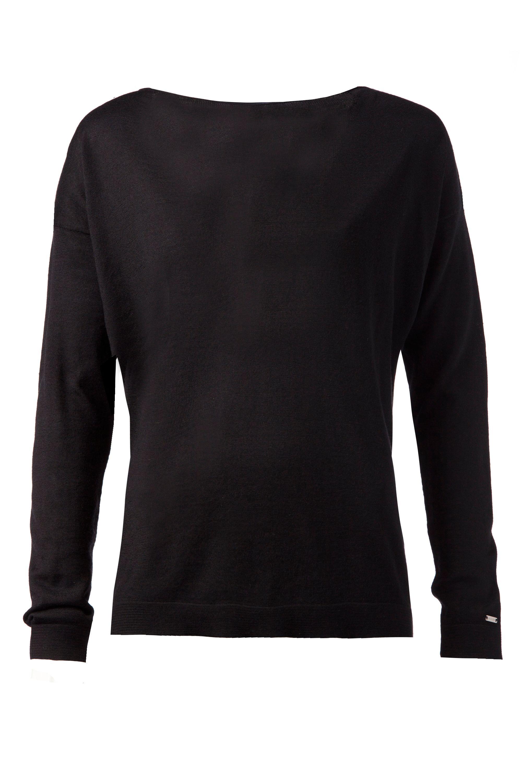 tommy hilfiger rabi sheer sweater in black lyst. Black Bedroom Furniture Sets. Home Design Ideas