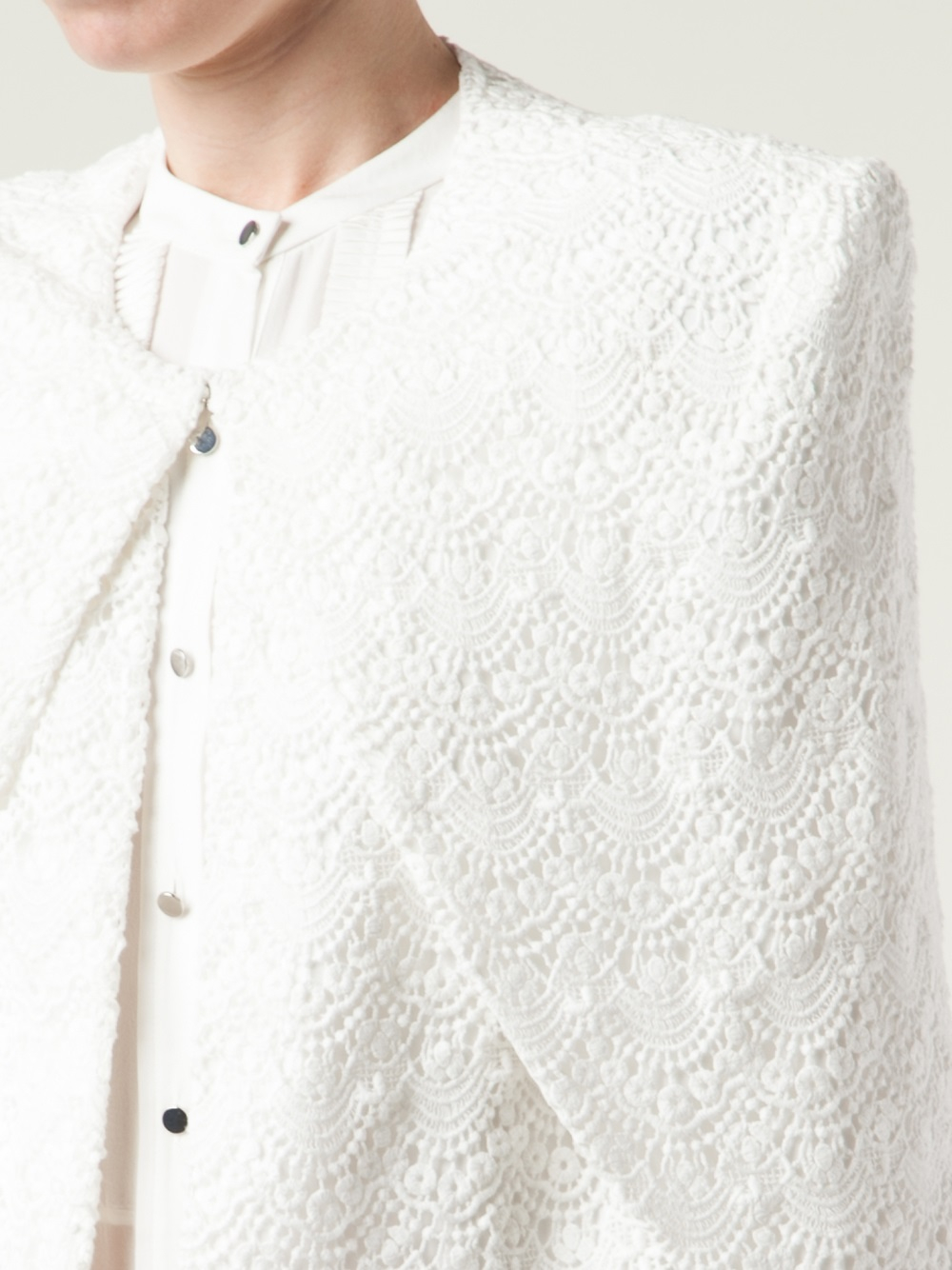 capelet blazer sass bide a writers life capelet jacket in white lyst 9380