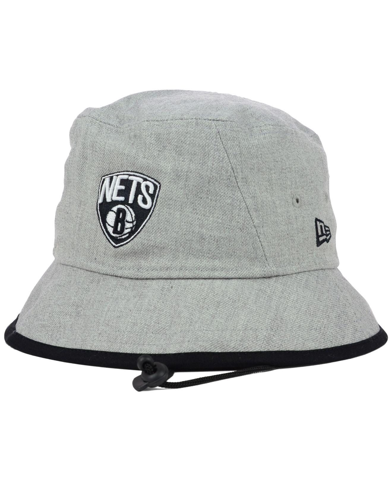 170e1c0df4c Lyst - KTZ Brooklyn Nets Hardwood Classics Fashion Tipped Bucket Hat ...