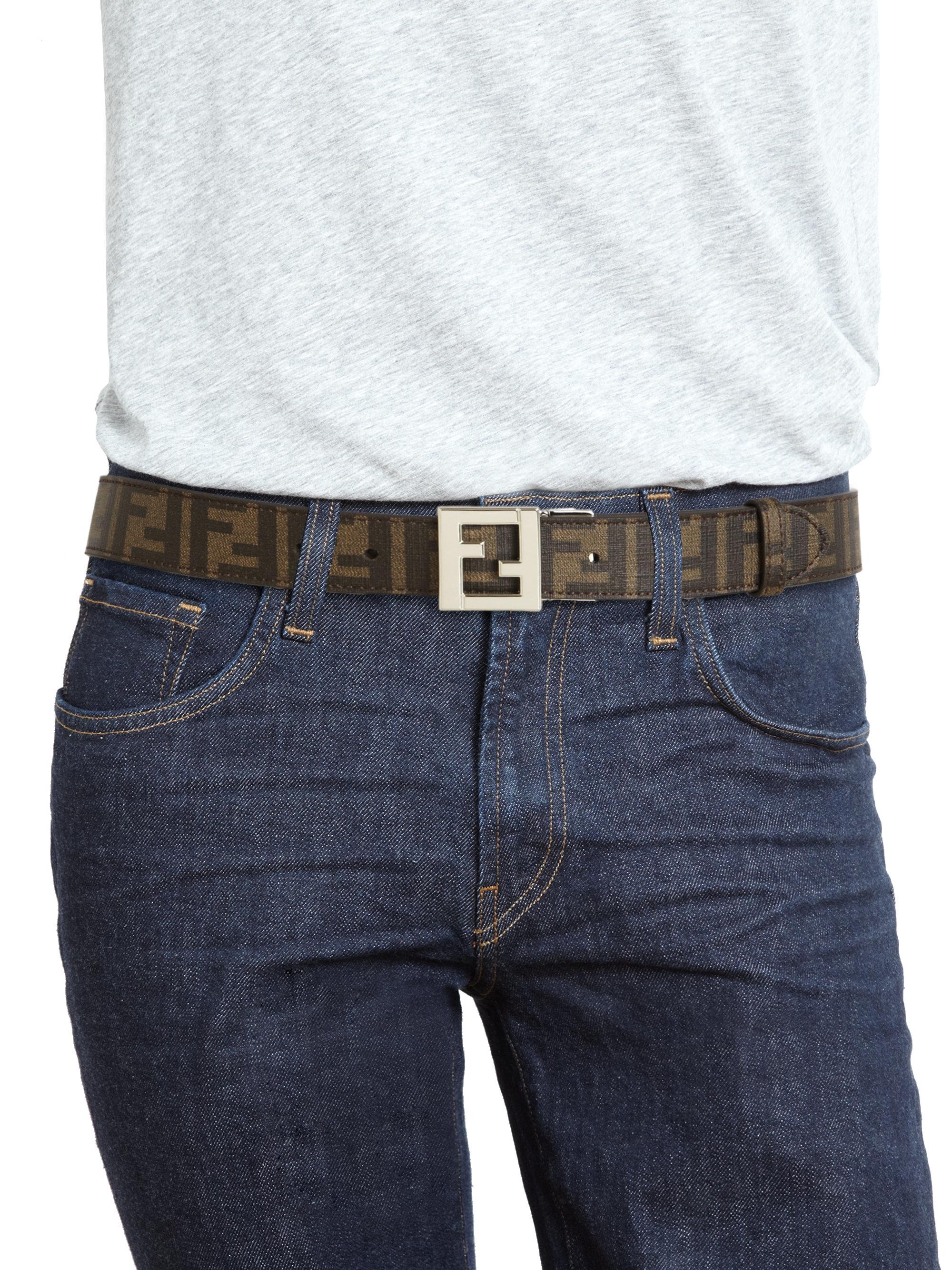 5fcd536393 Fendi Brown Reversible Belt for men