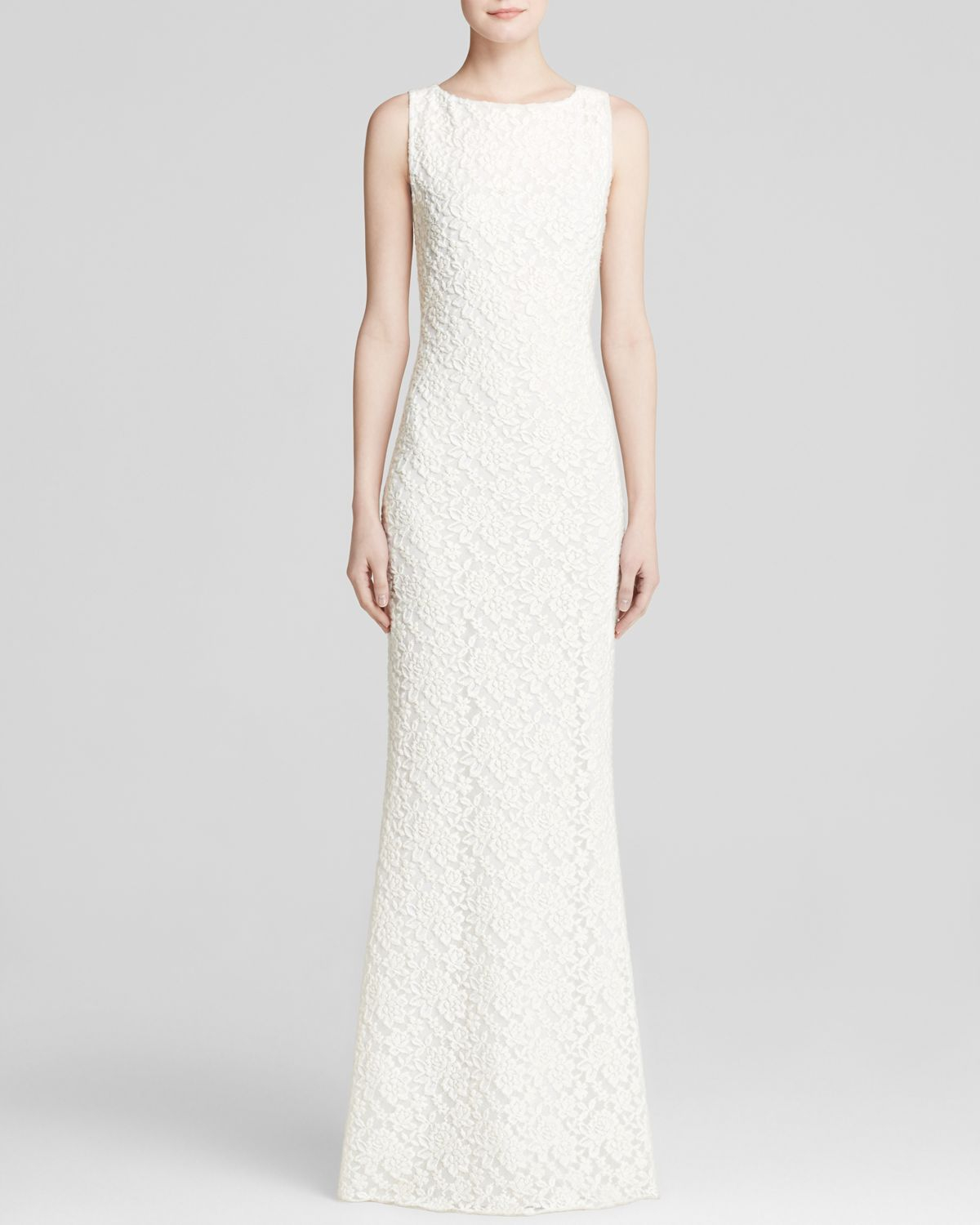 Alice Olivia White Gown Sachi Lace Ivory