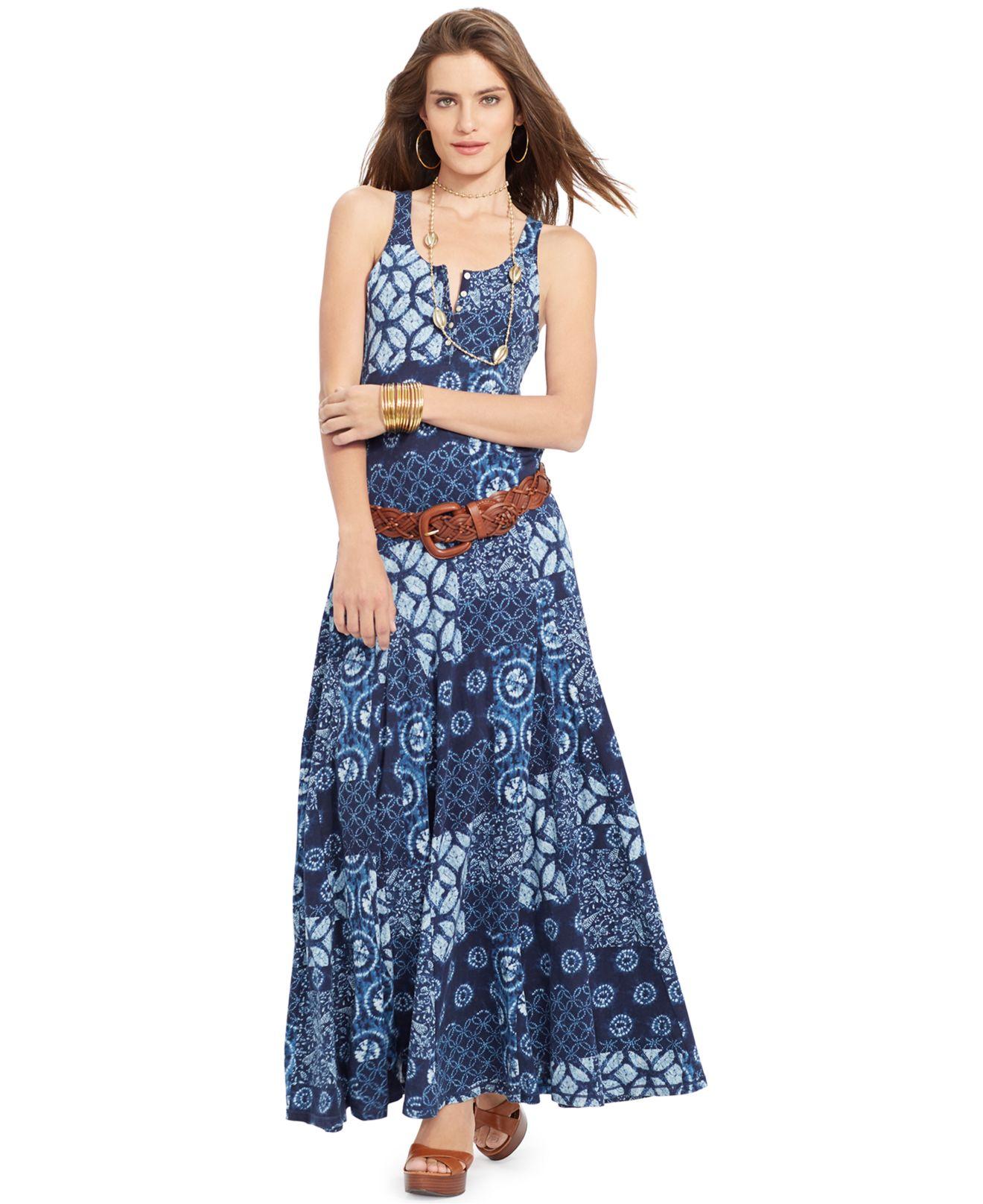 5e0ddc4ec7 Lyst - Lauren by Ralph Lauren Lauren Jeans Co. Sleeveless Printed ...